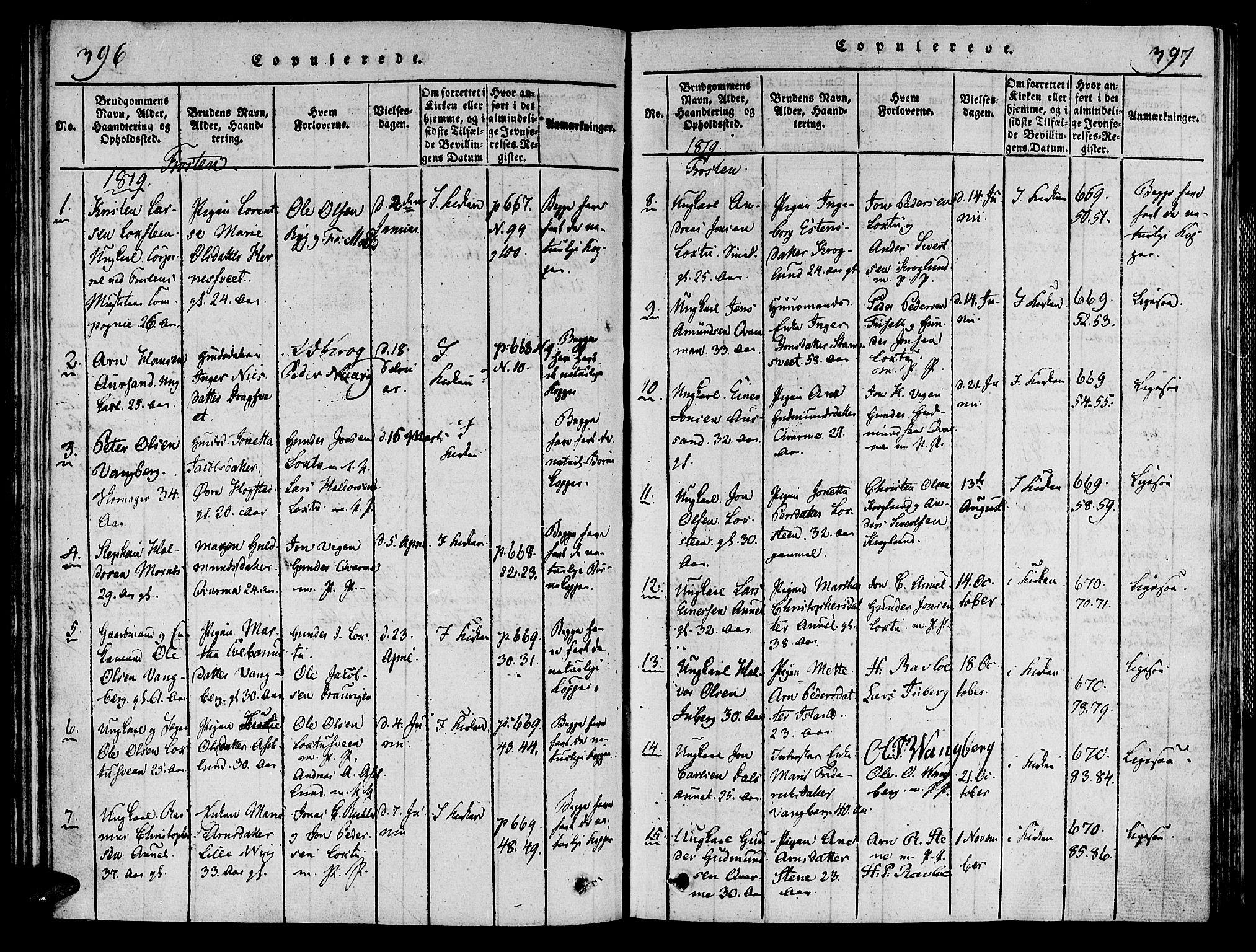 SAT, Ministerialprotokoller, klokkerbøker og fødselsregistre - Nord-Trøndelag, 713/L0112: Ministerialbok nr. 713A04 /1, 1817-1827, s. 396-397