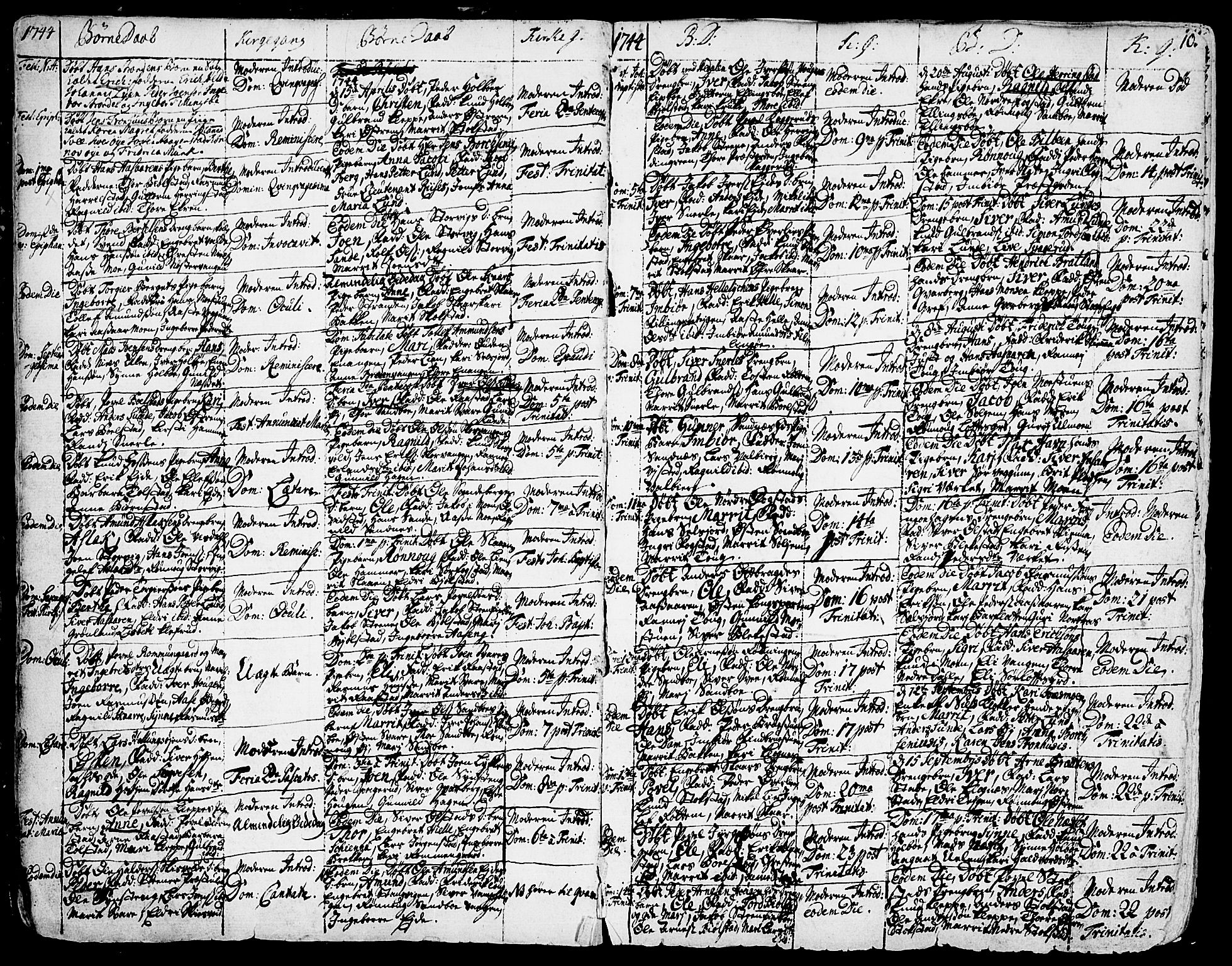 SAH, Vågå prestekontor, Ministerialbok nr. 1, 1739-1810, s. 10