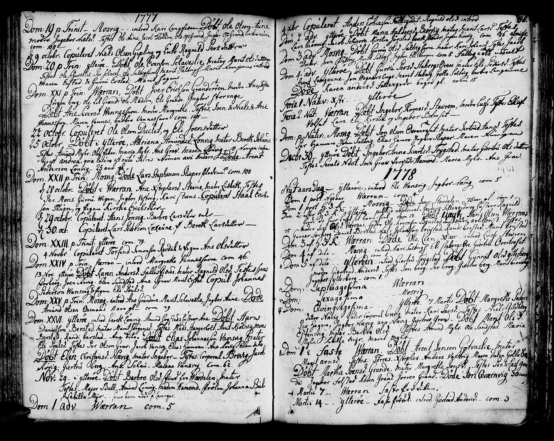 SAT, Ministerialprotokoller, klokkerbøker og fødselsregistre - Nord-Trøndelag, 722/L0216: Ministerialbok nr. 722A03, 1756-1816, s. 88