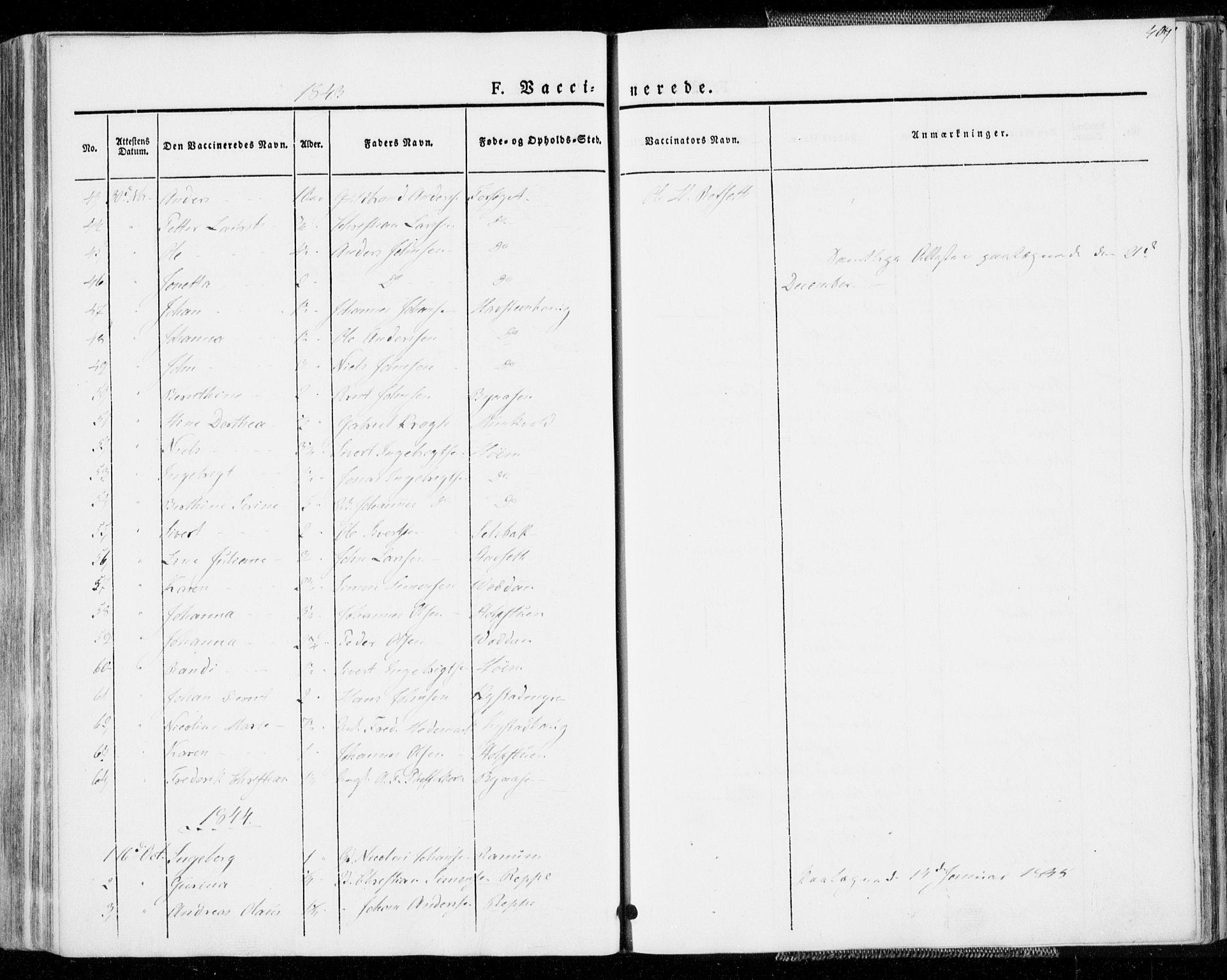 SAT, Ministerialprotokoller, klokkerbøker og fødselsregistre - Sør-Trøndelag, 606/L0290: Ministerialbok nr. 606A05, 1841-1847, s. 409