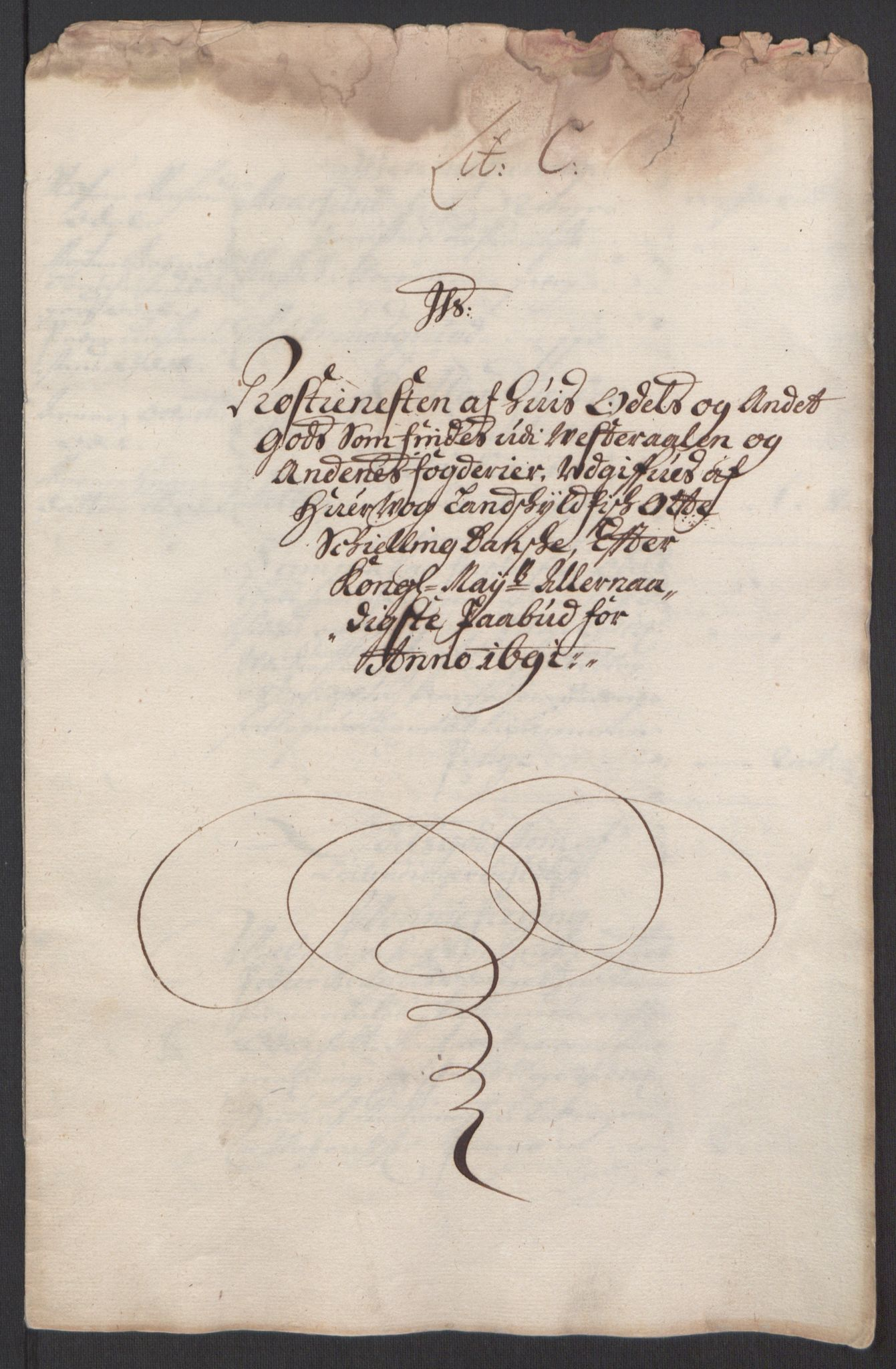 RA, Rentekammeret inntil 1814, Reviderte regnskaper, Fogderegnskap, R67/L4676: Fogderegnskap Vesterålen, Andenes og Lofoten, 1691-1693, s. 22
