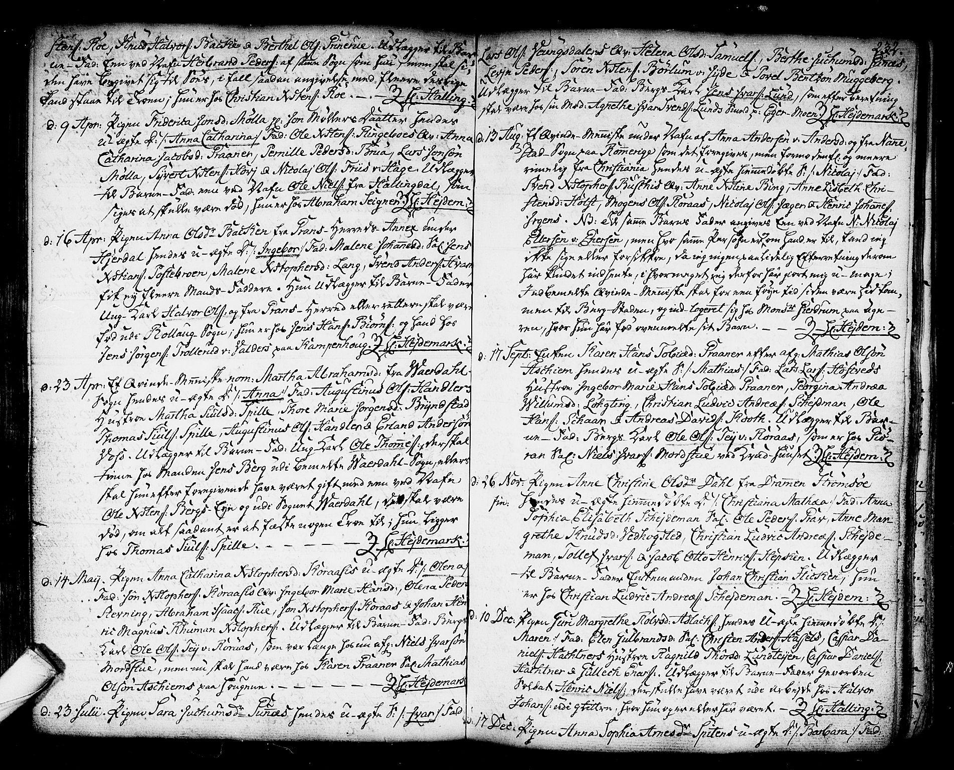 SAKO, Kongsberg kirkebøker, F/Fa/L0006: Ministerialbok nr. I 6, 1783-1797, s. 232
