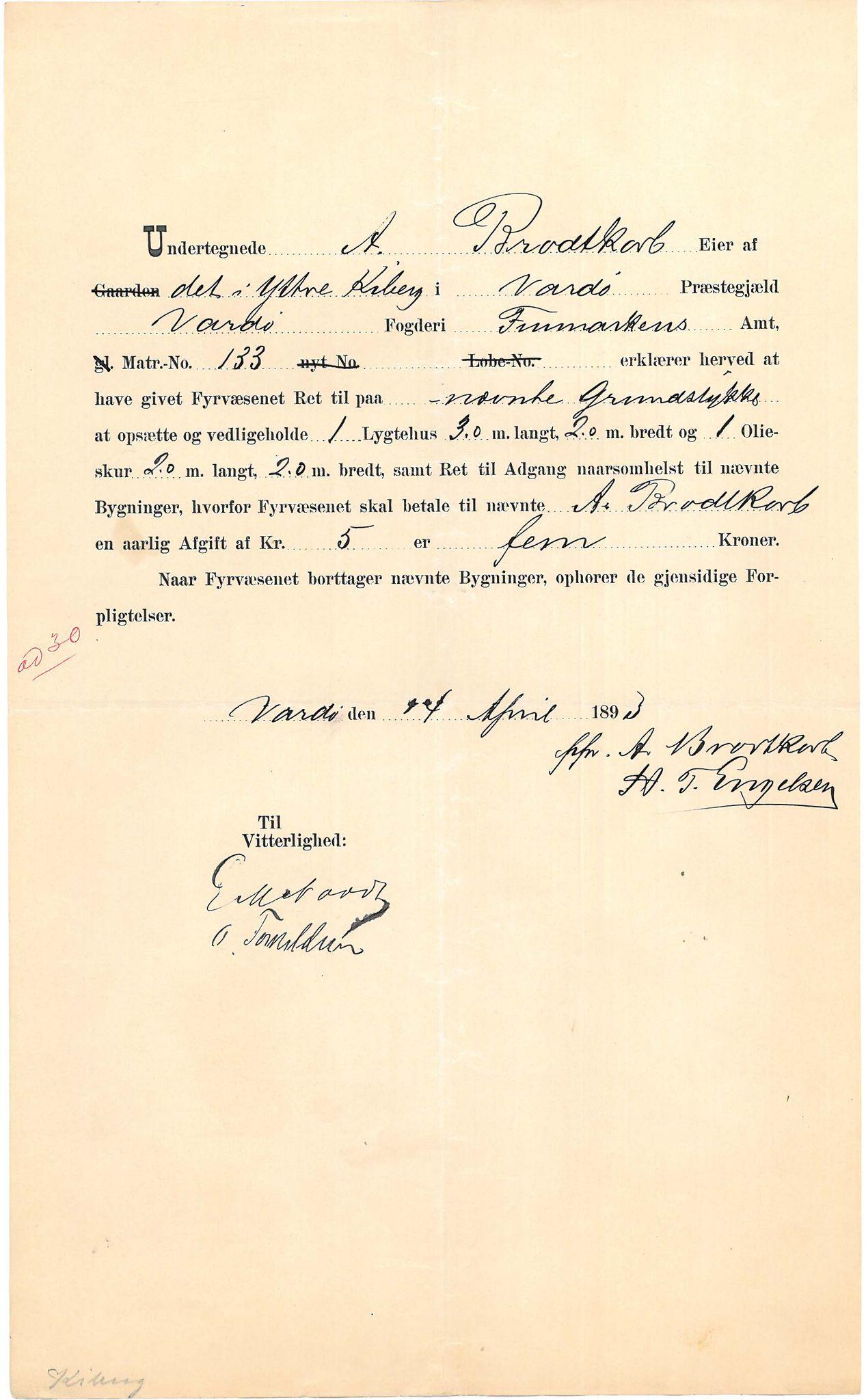 VAMU, Brodtkorb handel A/S, Q/Qb/L0003: Faste eiendommer i Vardø Herred, 1862-1939, s. 109