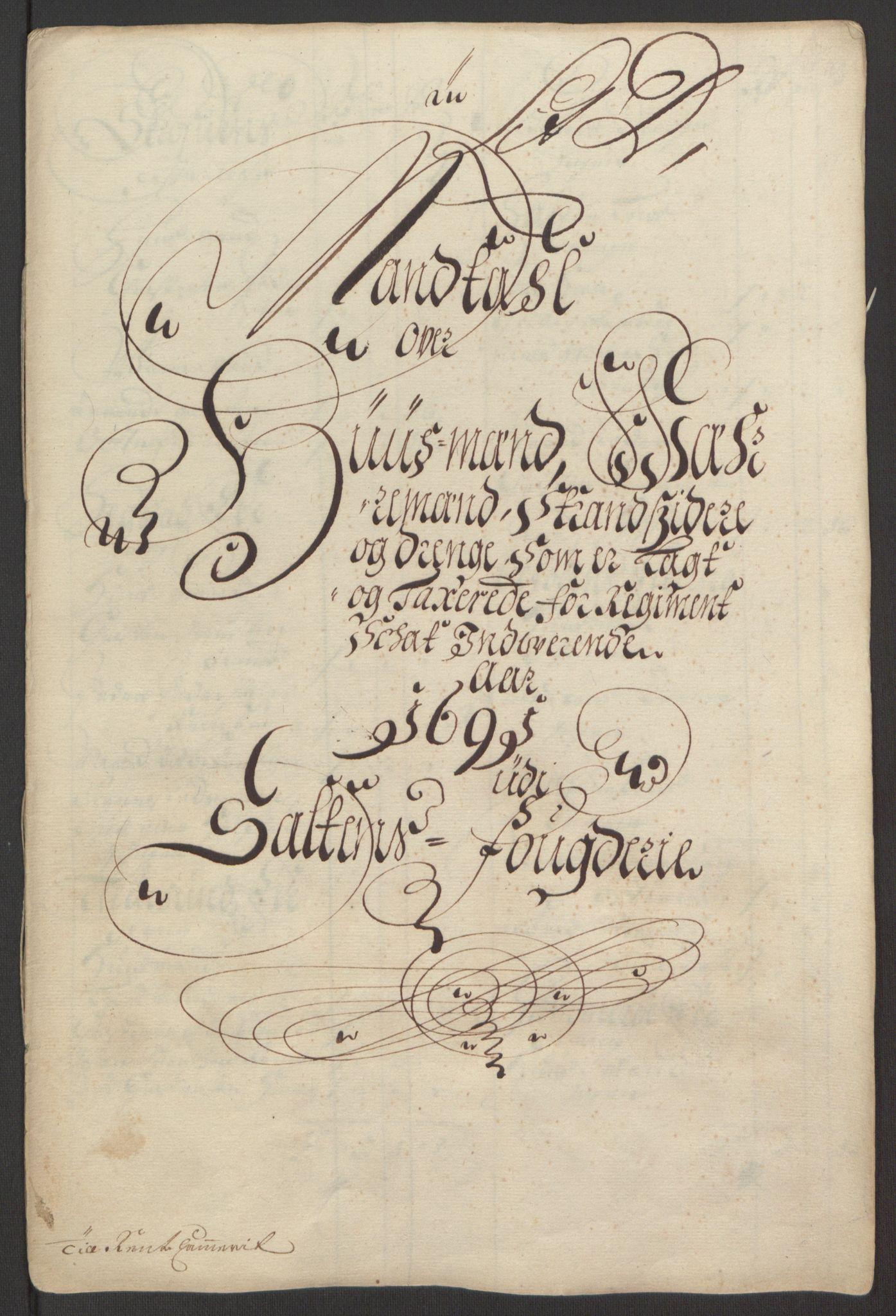 RA, Rentekammeret inntil 1814, Reviderte regnskaper, Fogderegnskap, R66/L4577: Fogderegnskap Salten, 1691-1693, s. 50
