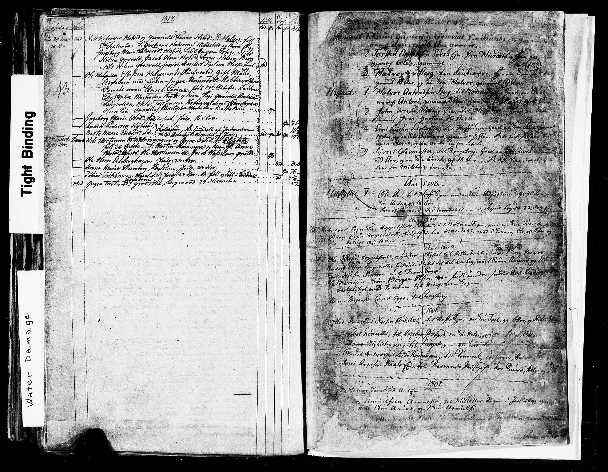 SAKO, Sandsvær kirkebøker, G/Ga/L0002: Klokkerbok nr. I 2, 1796-1817, s. 123