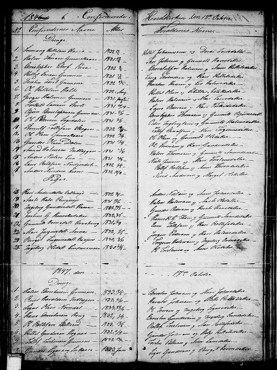 SAKO, Sauherad kirkebøker, G/Gb/L0001: Klokkerbok nr. II 1, 1845-1865, s. 58