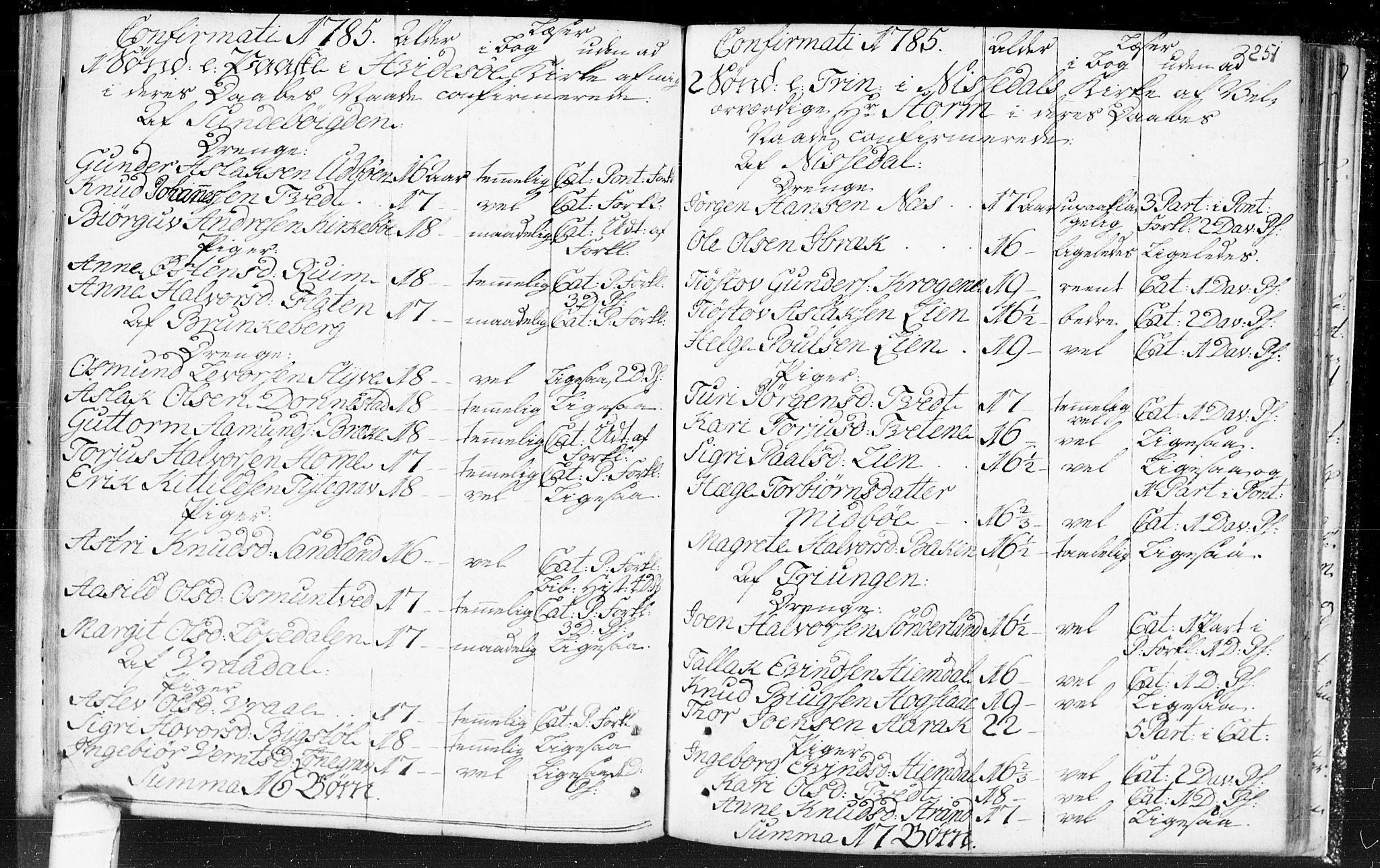 SAKO, Kviteseid kirkebøker, F/Fa/L0002: Ministerialbok nr. I 2, 1773-1786, s. 251