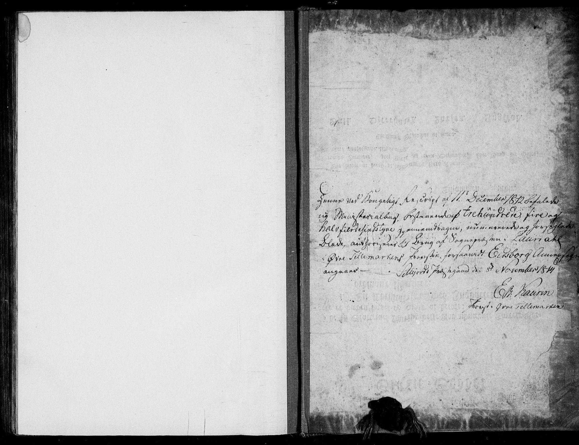 SAKO, Lårdal kirkebøker, F/Fb/L0001: Ministerialbok nr. II 1, 1815-1860
