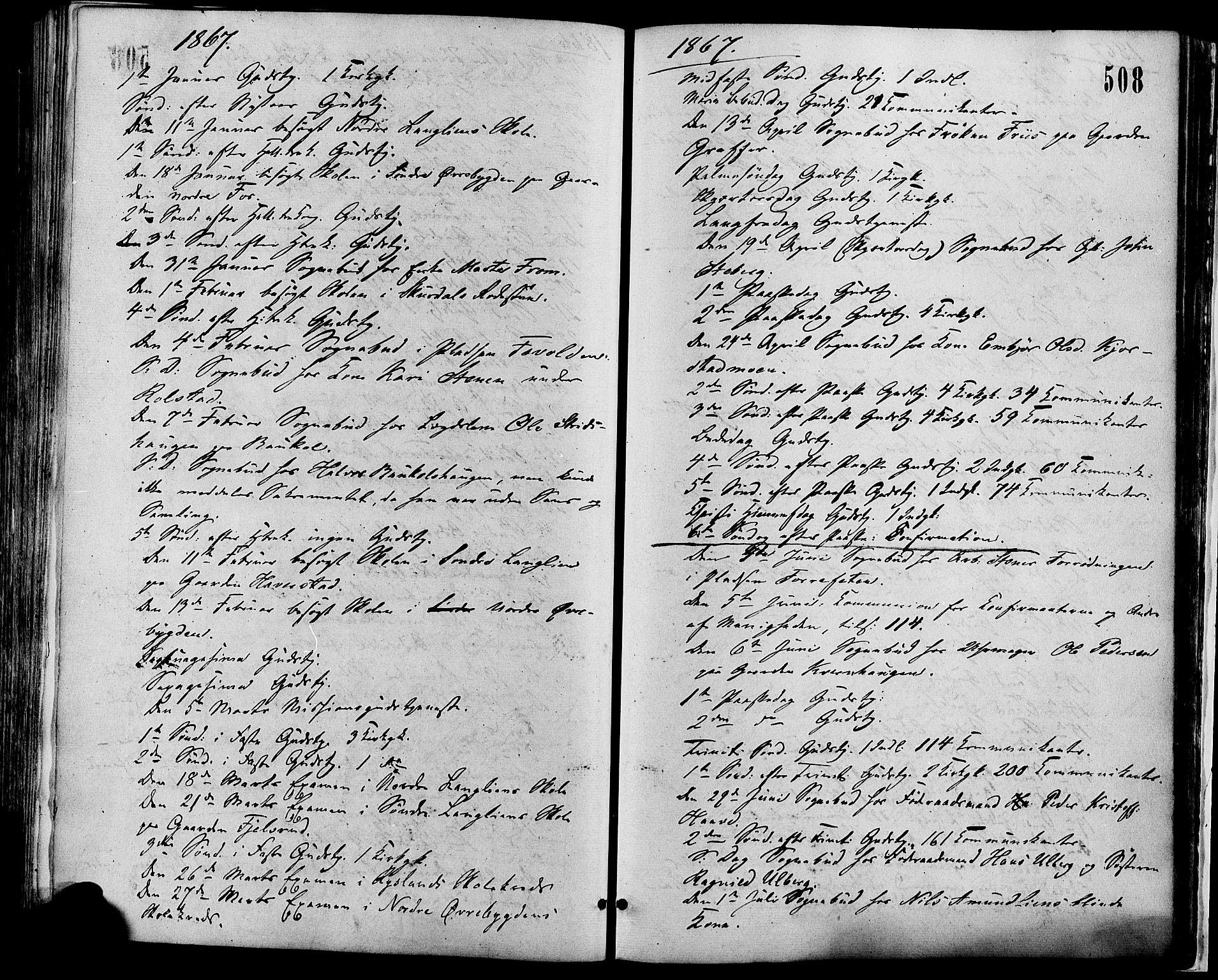 SAH, Sør-Fron prestekontor, H/Ha/Haa/L0002: Ministerialbok nr. 2, 1864-1880, s. 508