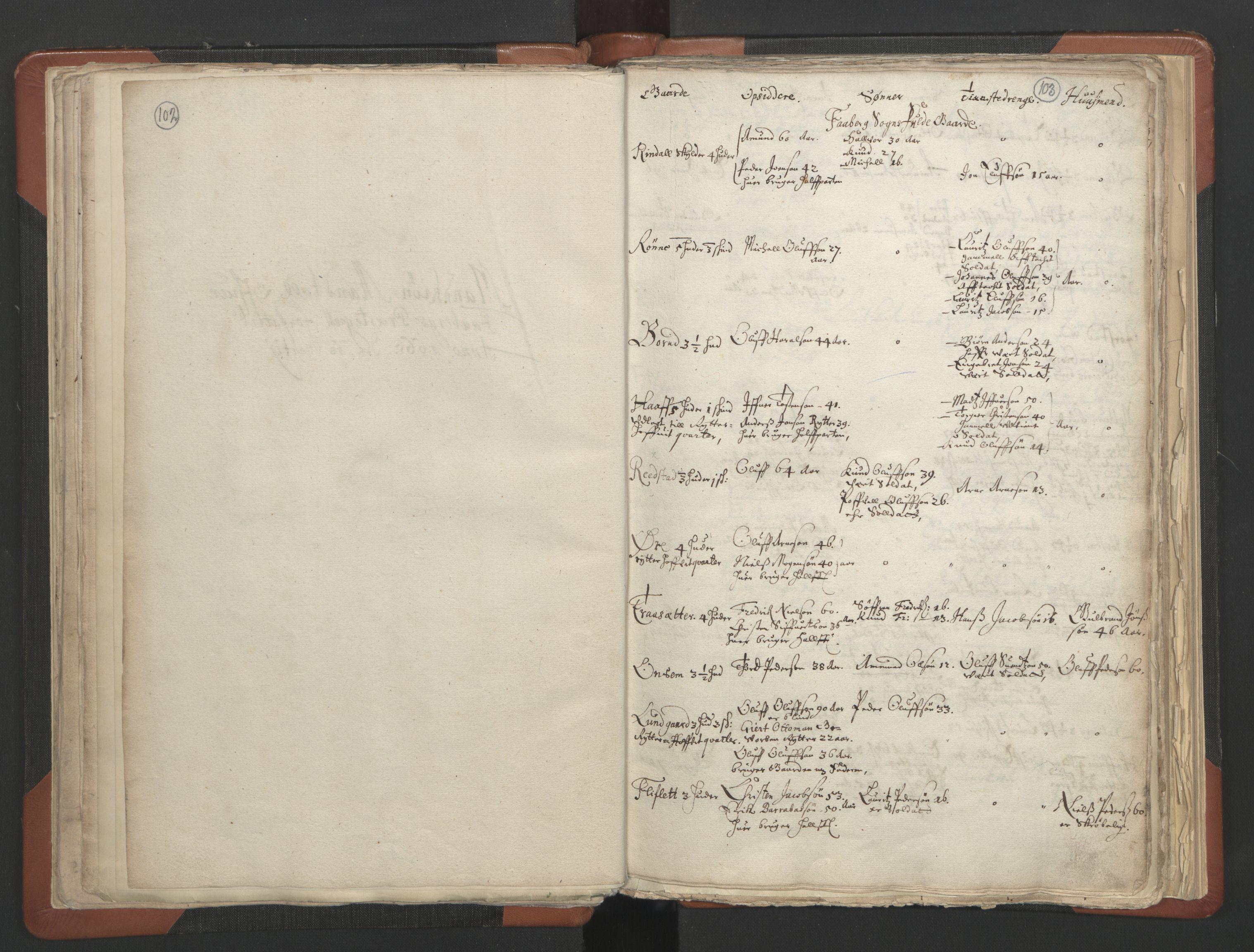 RA, Sogneprestenes manntall 1664-1666, nr. 6: Gudbrandsdal prosti, 1664-1666, s. 102-103