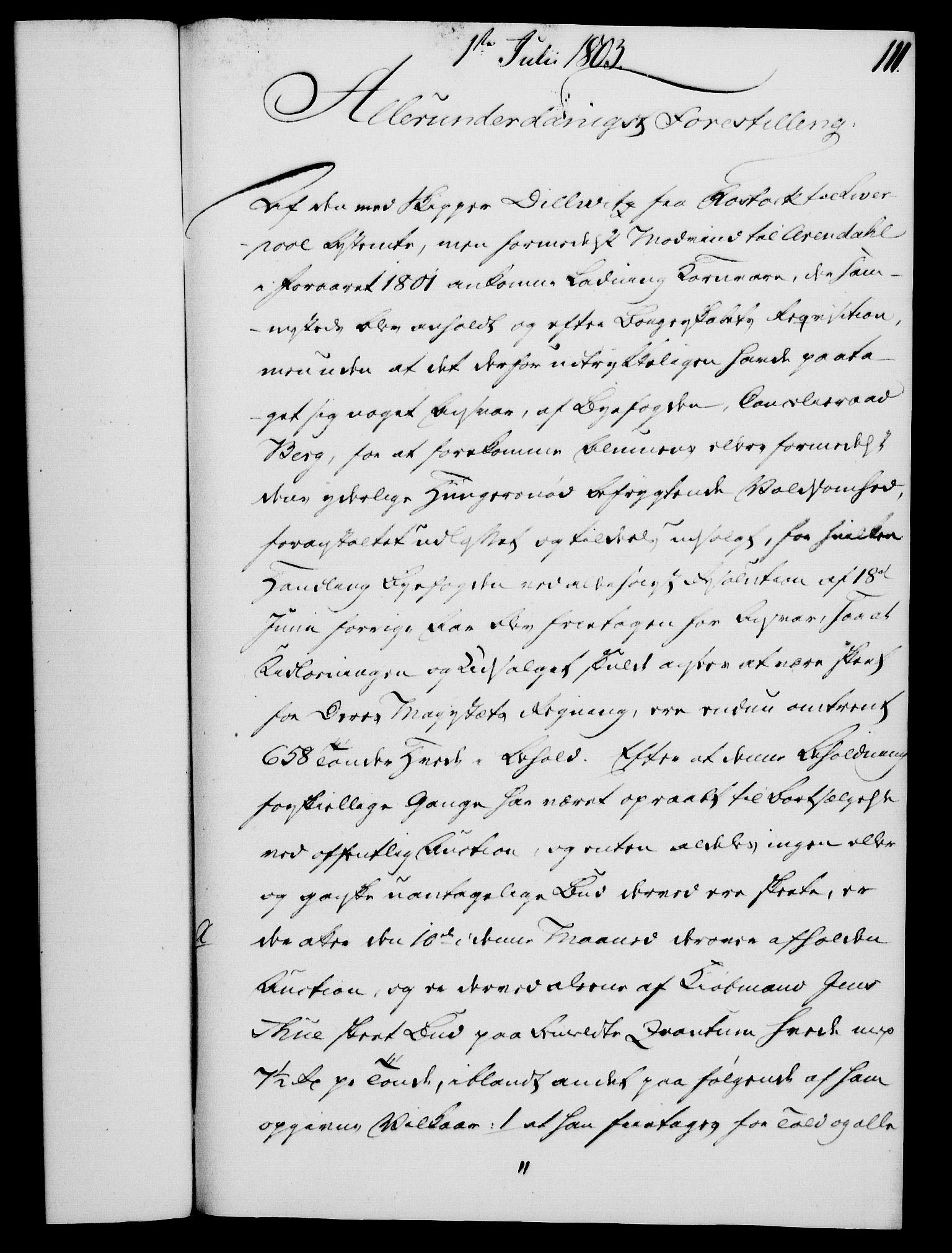 RA, Rentekammeret, Kammerkanselliet, G/Gf/Gfa/L0085: Norsk relasjons- og resolusjonsprotokoll (merket RK 52.85), 1803, s. 627