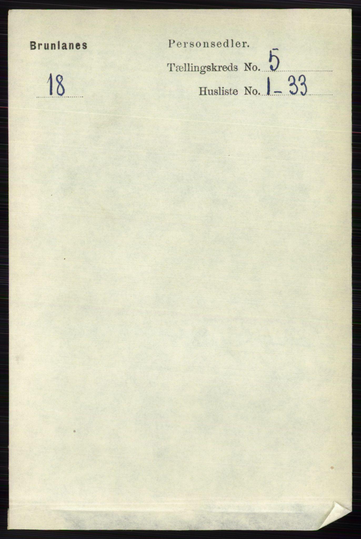 RA, Folketelling 1891 for 0726 Brunlanes herred, 1891, s. 2234