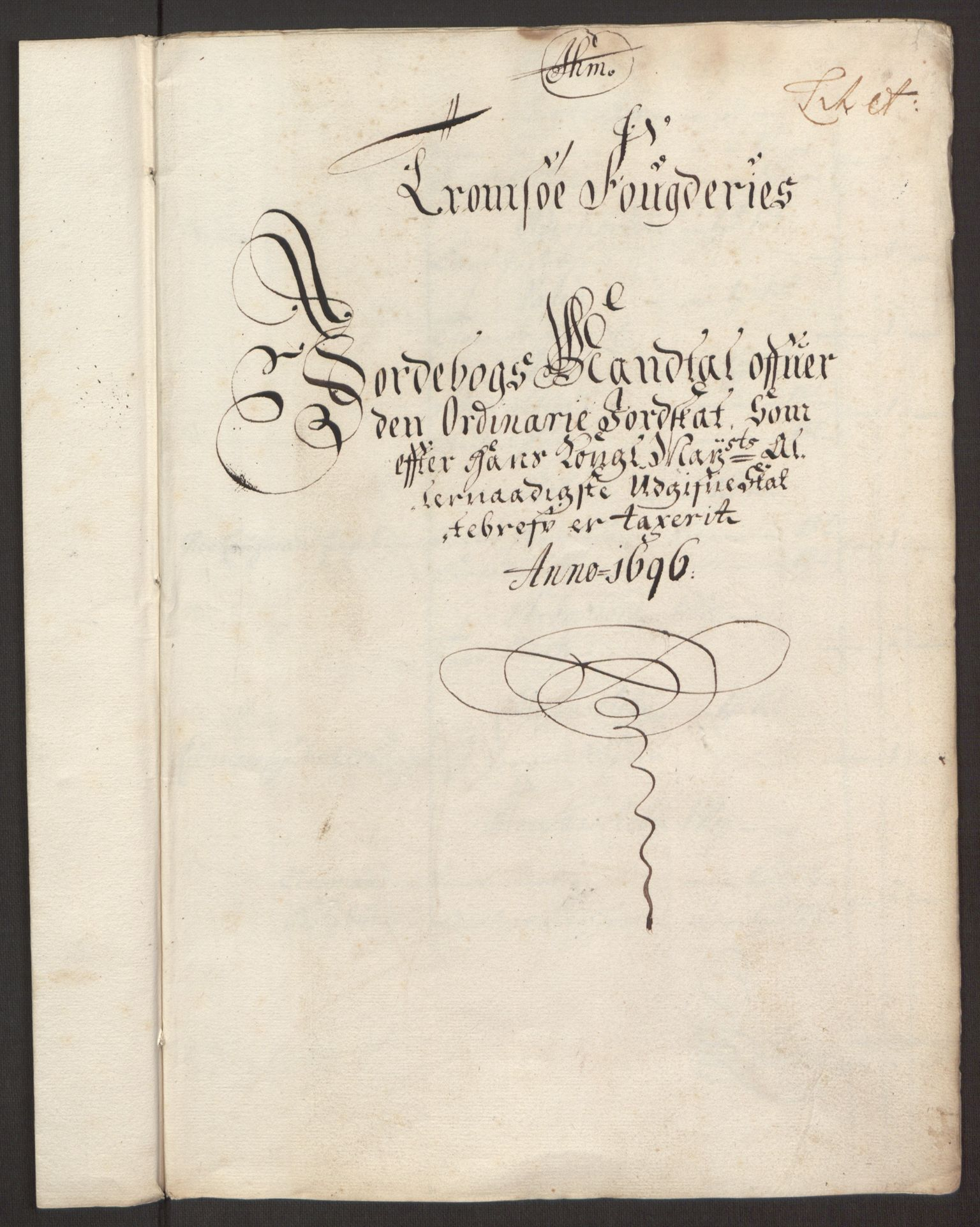 RA, Rentekammeret inntil 1814, Reviderte regnskaper, Fogderegnskap, R68/L4753: Fogderegnskap Senja og Troms, 1694-1696, s. 316