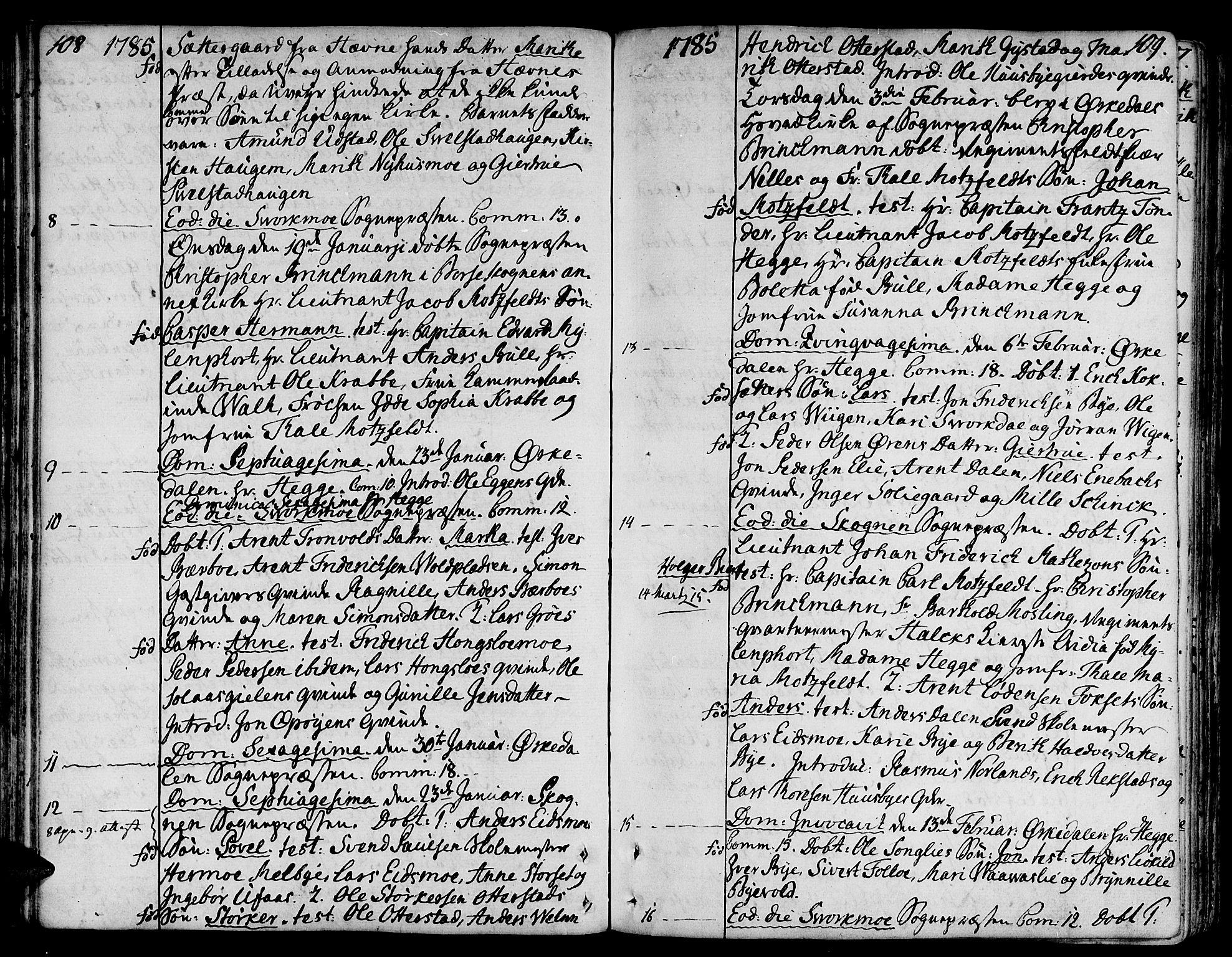 SAT, Ministerialprotokoller, klokkerbøker og fødselsregistre - Sør-Trøndelag, 668/L0802: Ministerialbok nr. 668A02, 1776-1799, s. 108-109