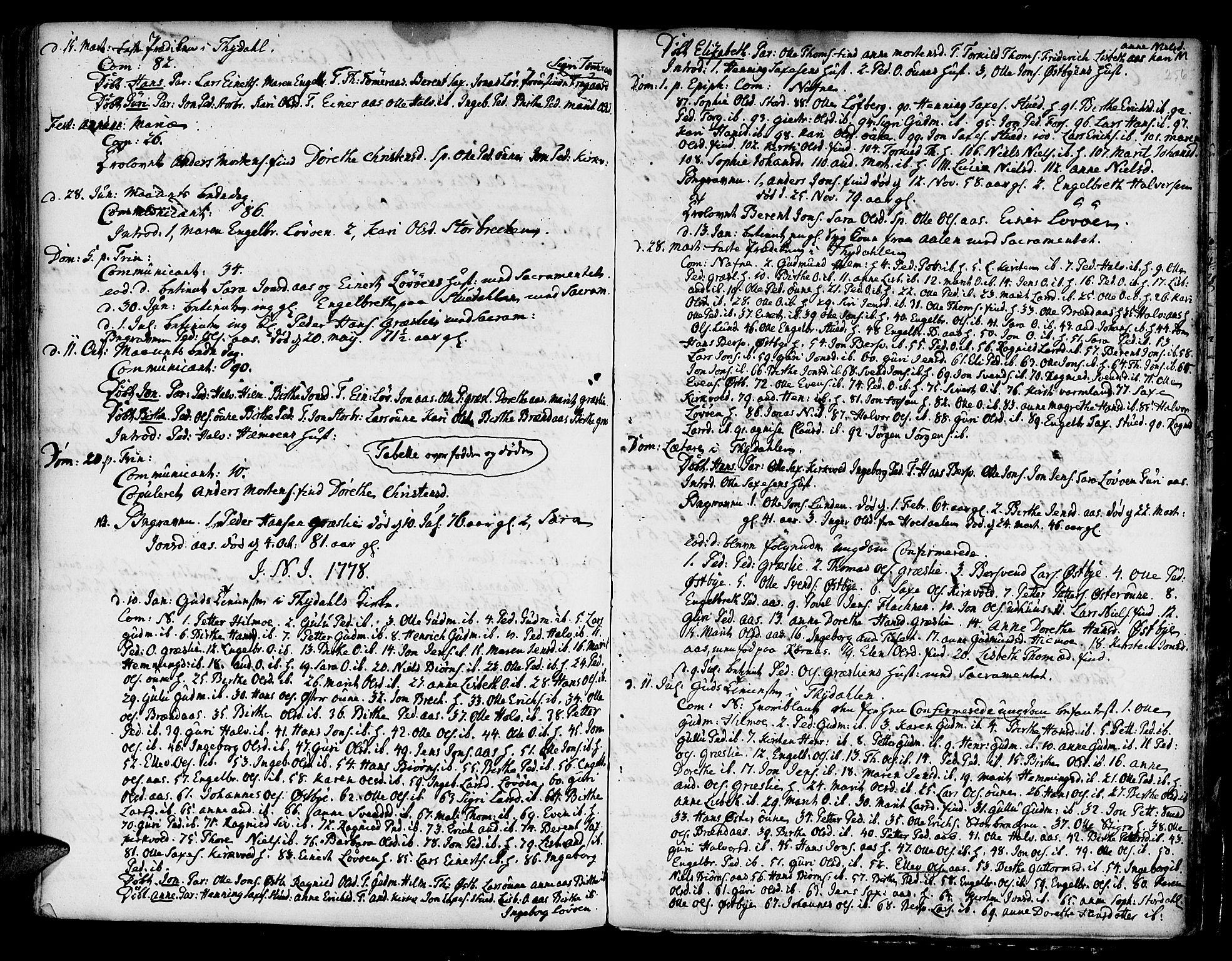 SAT, Ministerialprotokoller, klokkerbøker og fødselsregistre - Sør-Trøndelag, 695/L1139: Ministerialbok nr. 695A02 /2, 1776-1790, s. 256