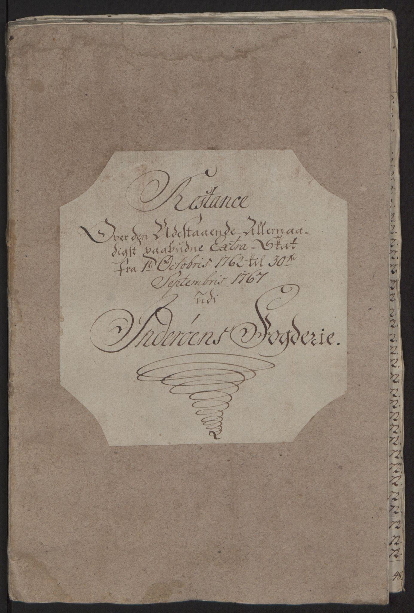 RA, Rentekammeret inntil 1814, Reviderte regnskaper, Fogderegnskap, R63/L4420: Ekstraskatten Inderøy, 1762-1772, s. 275