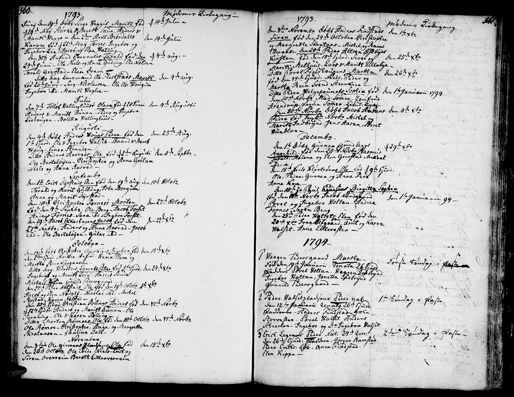 SAT, Ministerialprotokoller, klokkerbøker og fødselsregistre - Nord-Trøndelag, 746/L0440: Ministerialbok nr. 746A02, 1760-1815, s. 560-561