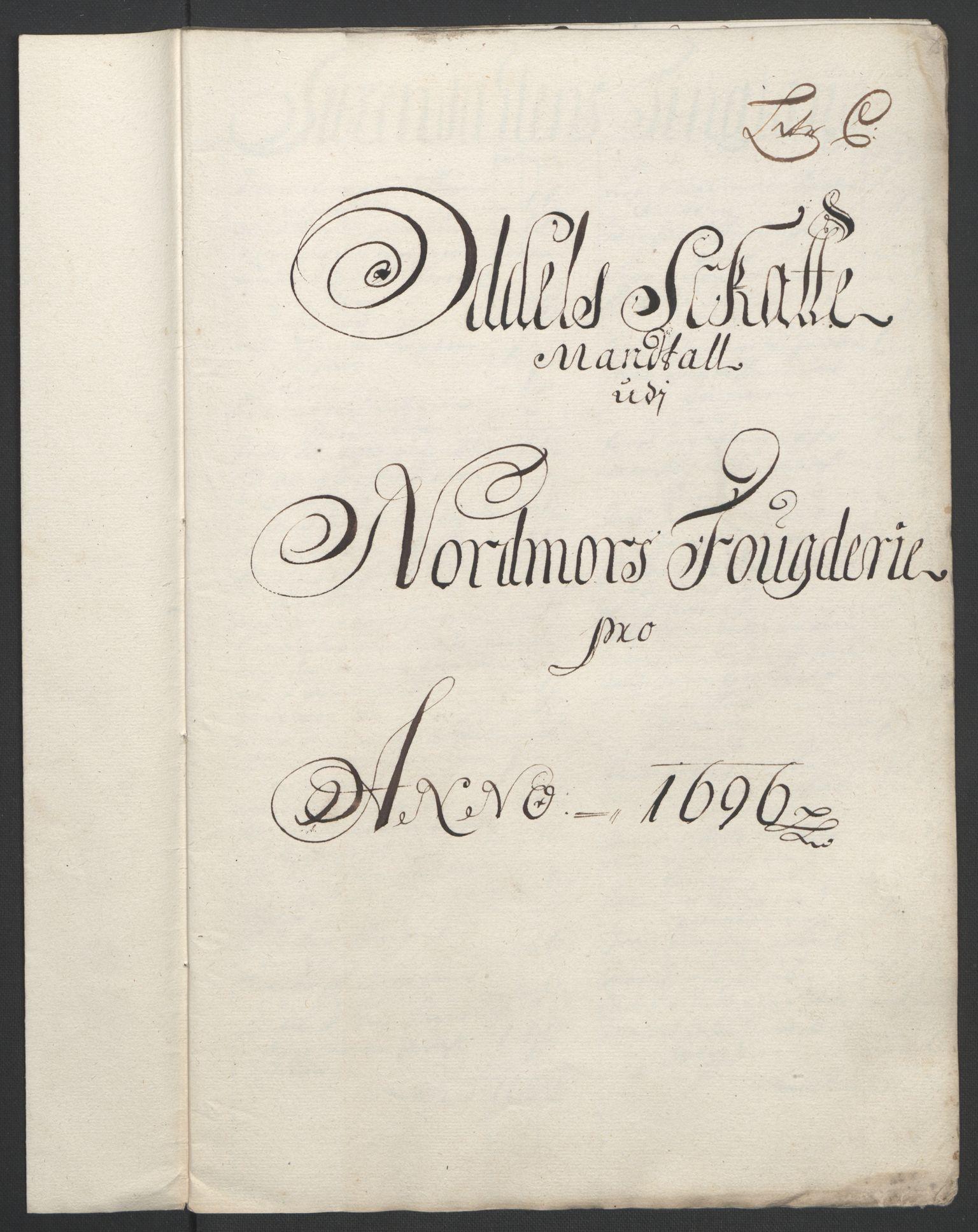 RA, Rentekammeret inntil 1814, Reviderte regnskaper, Fogderegnskap, R56/L3736: Fogderegnskap Nordmøre, 1694-1696, s. 401