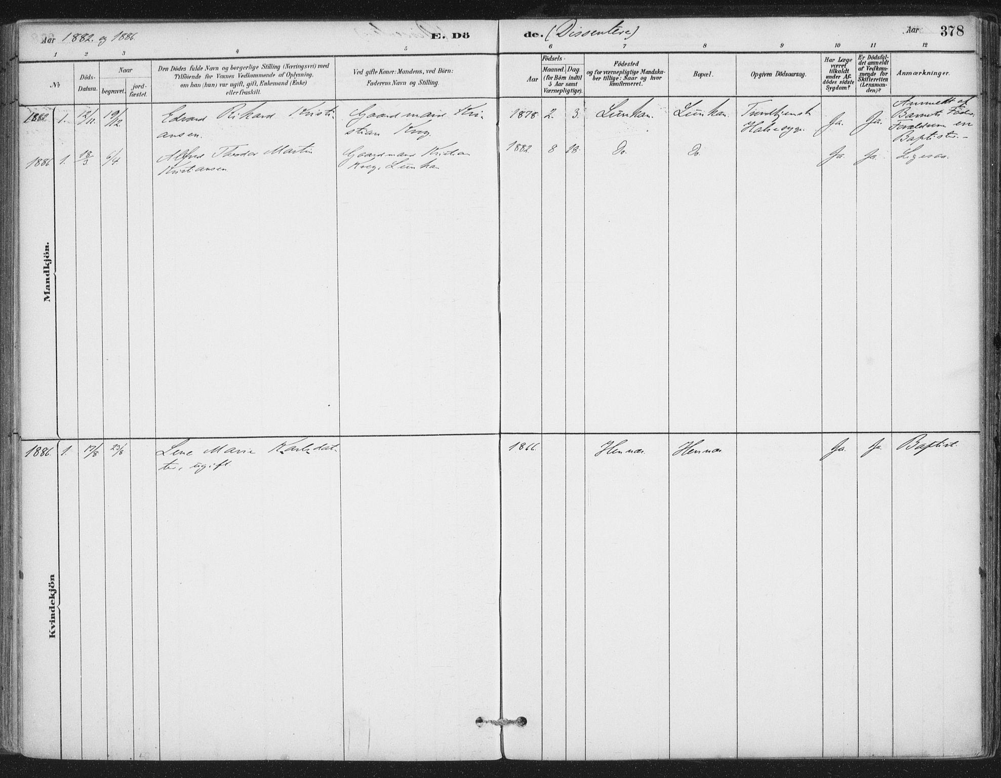 SAT, Ministerialprotokoller, klokkerbøker og fødselsregistre - Nordland, 888/L1244: Ministerialbok nr. 888A10, 1880-1890, s. 376