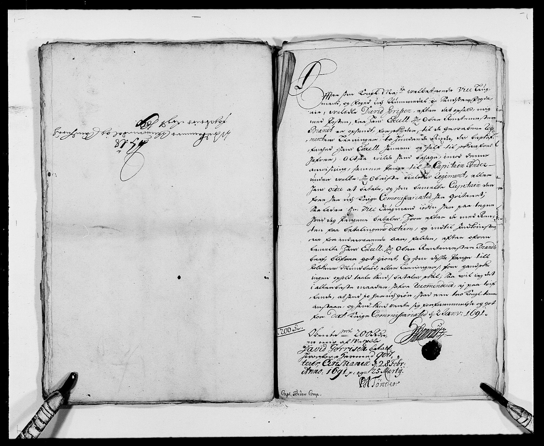 RA, Rentekammeret inntil 1814, Reviderte regnskaper, Fogderegnskap, R24/L1574: Fogderegnskap Numedal og Sandsvær, 1688-1691, s. 141