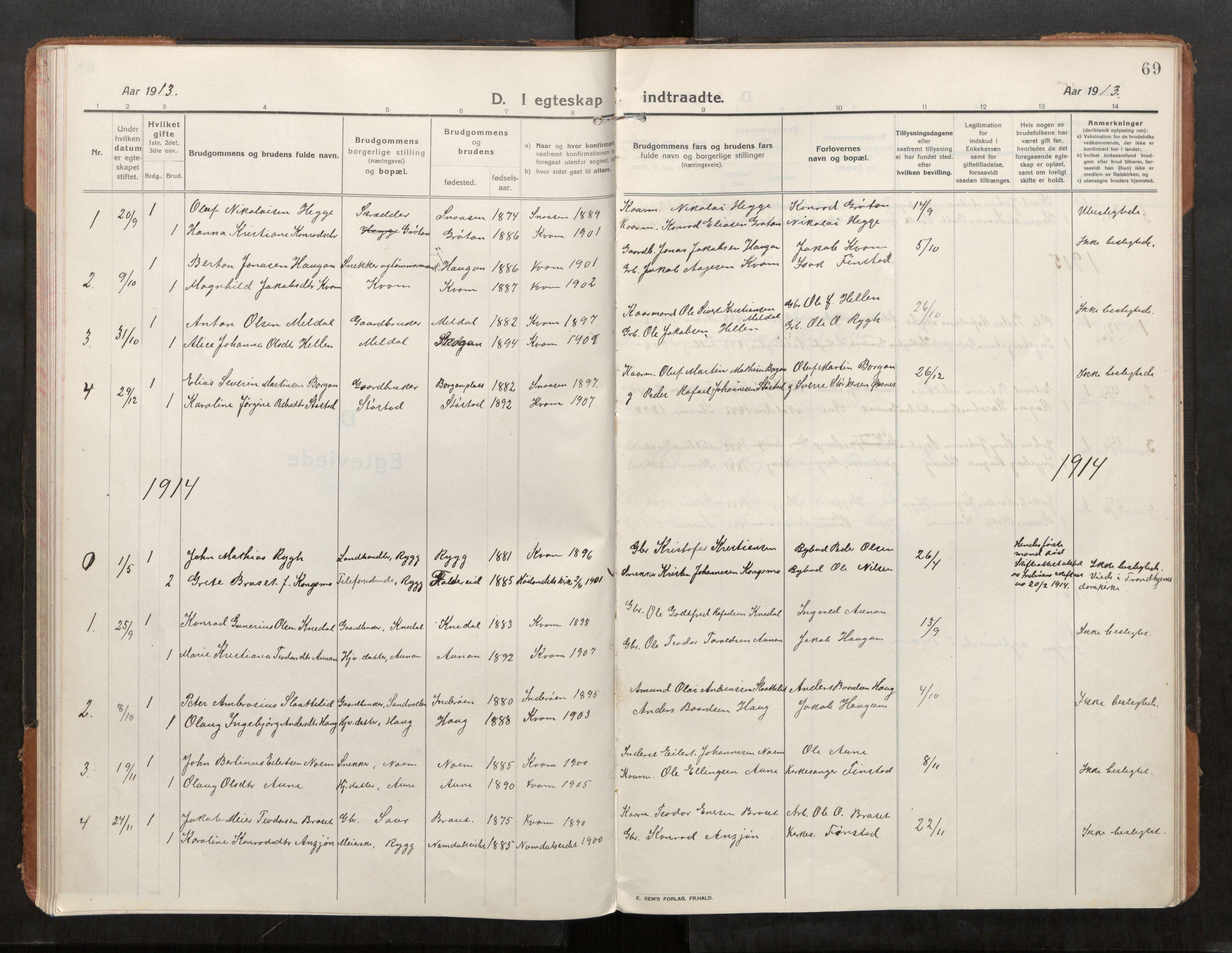 SAT, Stod sokneprestkontor, I/I1/I1a/L0004: Ministerialbok nr. 4, 1913-1933, s. 69