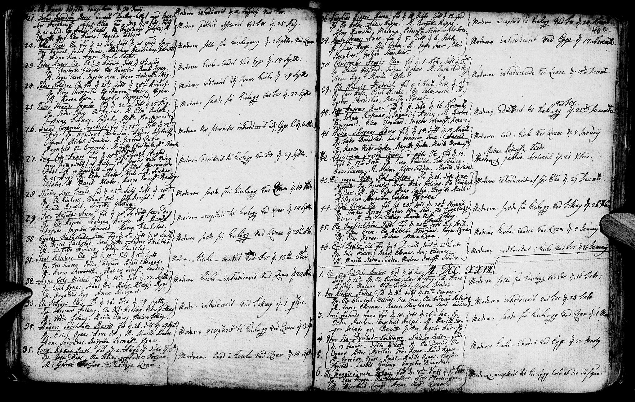 SAT, Ministerialprotokoller, klokkerbøker og fødselsregistre - Nord-Trøndelag, 746/L0439: Ministerialbok nr. 746A01, 1688-1759, s. 40f