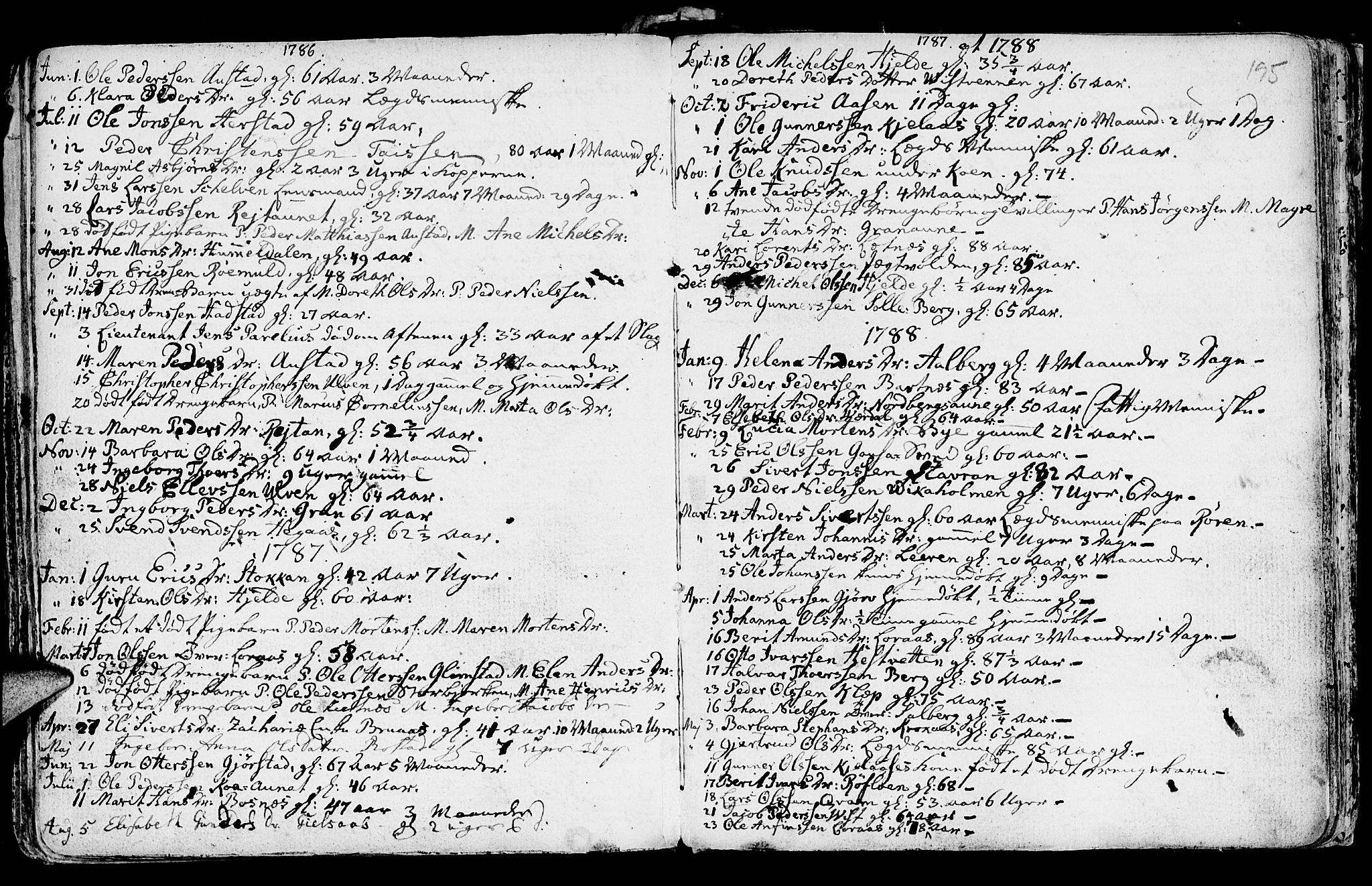 SAT, Ministerialprotokoller, klokkerbøker og fødselsregistre - Nord-Trøndelag, 730/L0273: Ministerialbok nr. 730A02, 1762-1802, s. 195