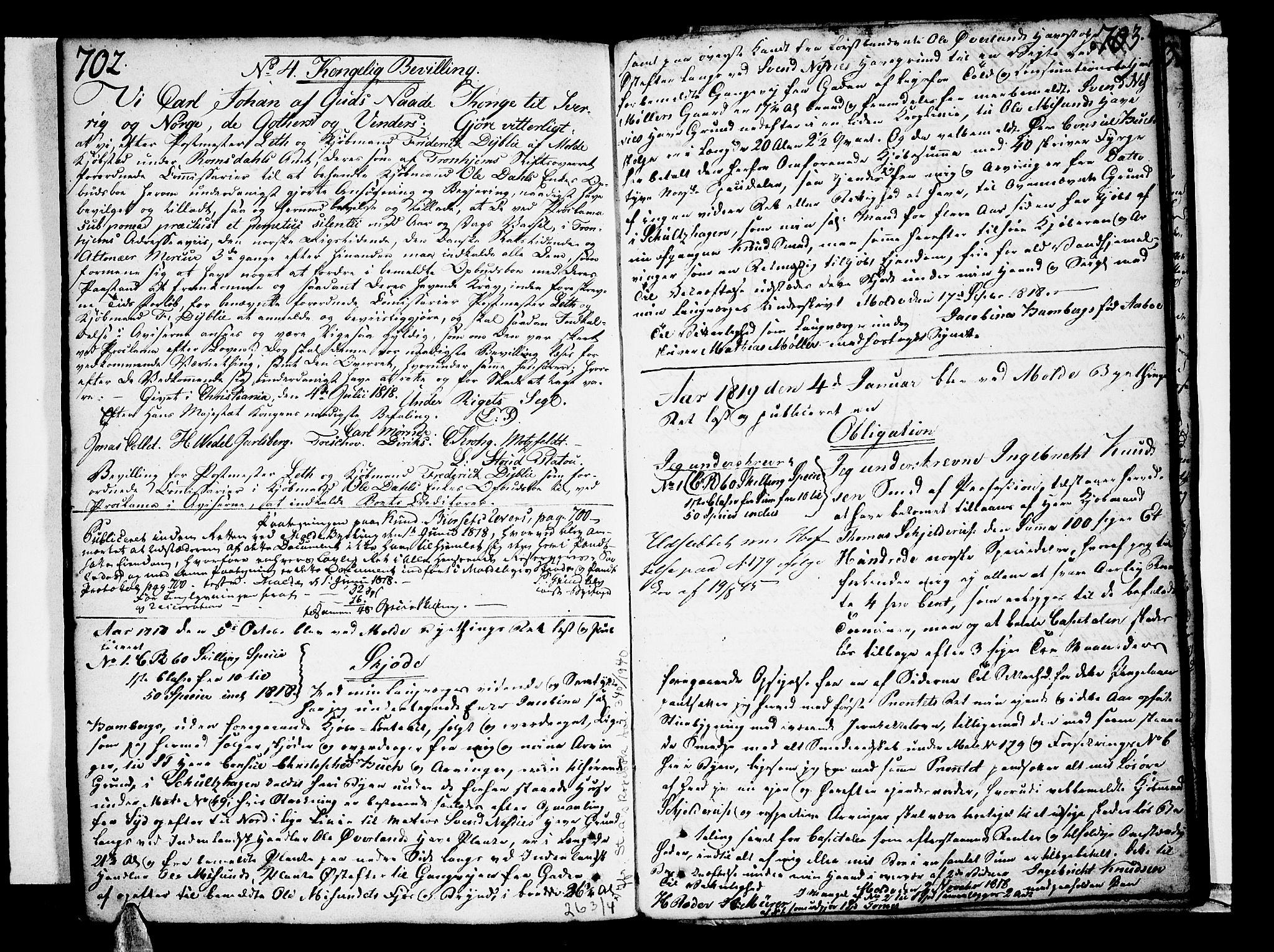 SAT, Molde byfogd, 2C/L0001: Pantebok nr. 1, 1748-1823, s. 702-703