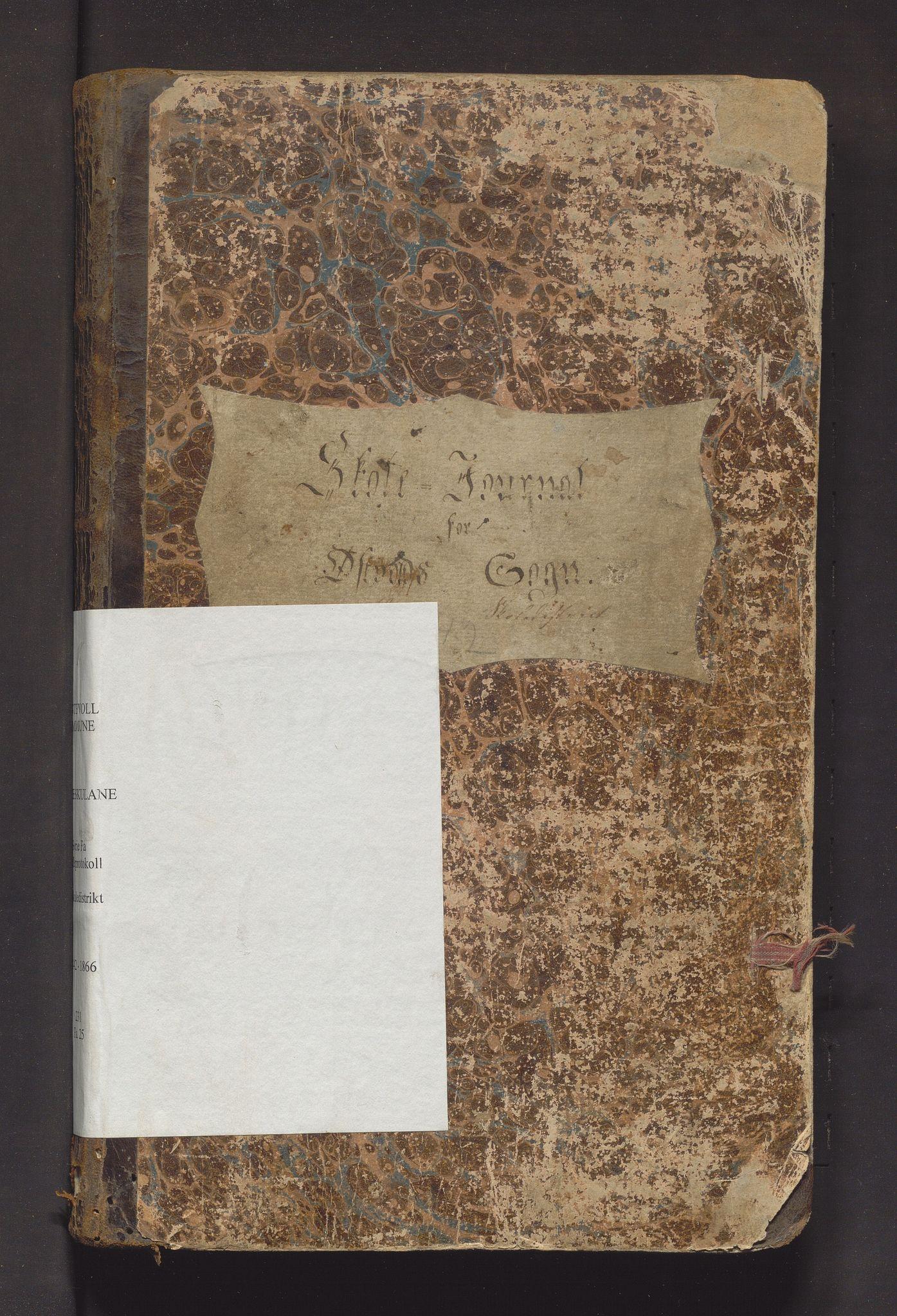 IKAH, Austevoll kommune. Barneskulane, F/Fa/L0025: Skuleprotokoll for 1. skuledistrikt i Østervold sokn i Sund prestegjeld, 1842-1866
