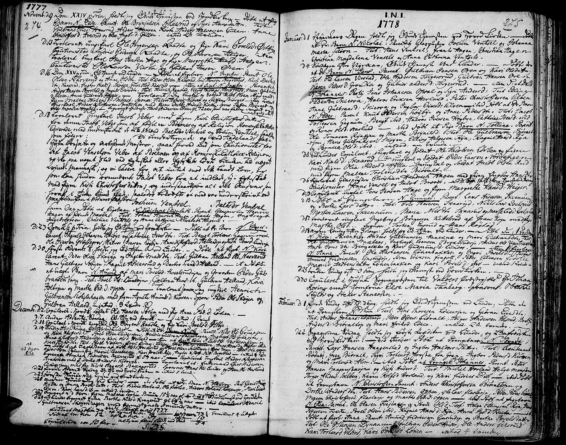 SAH, Jevnaker prestekontor, Ministerialbok nr. 3, 1752-1799, s. 274-275