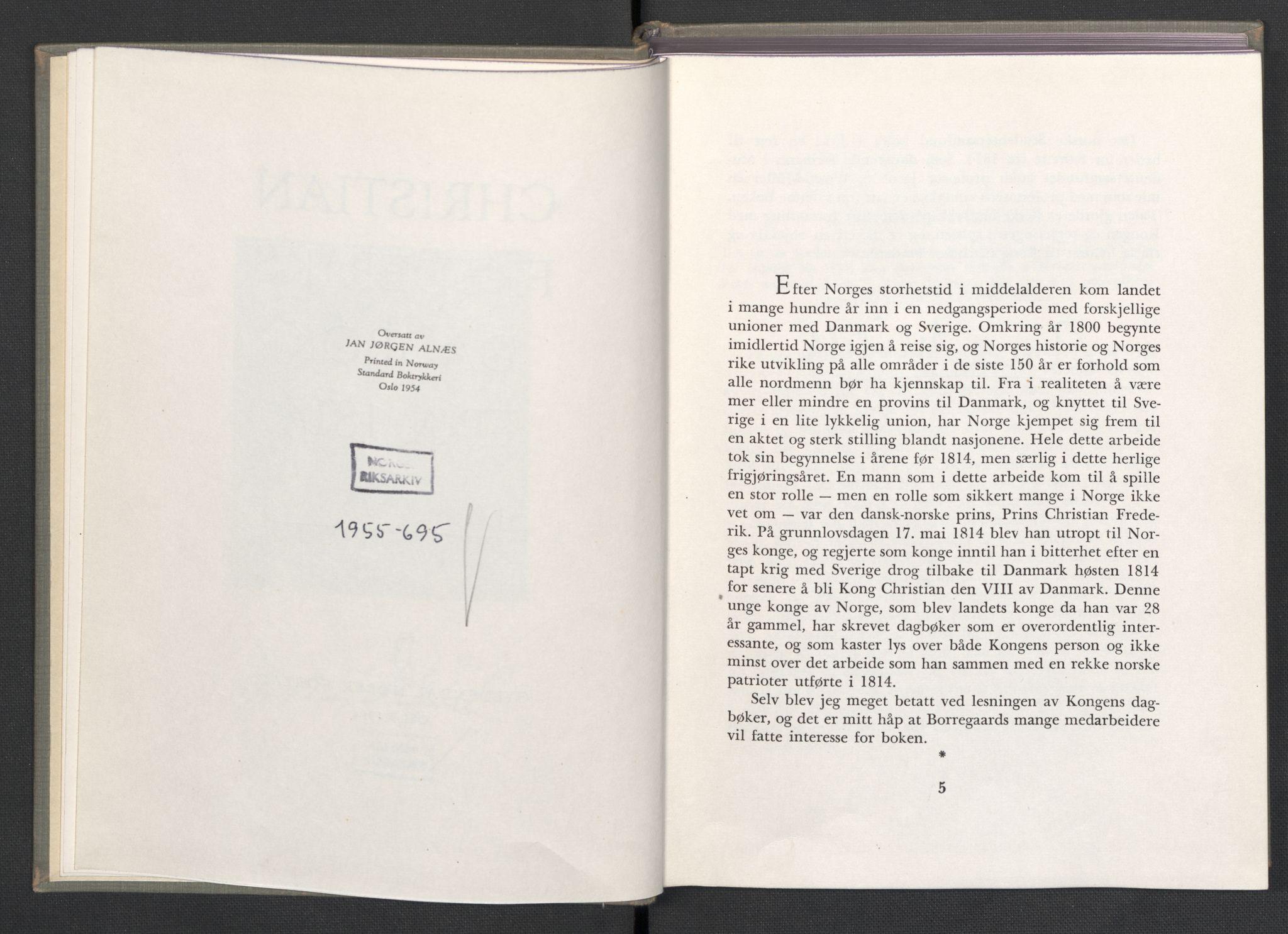RA, Publikasjoner*, 1954, s. 4-5