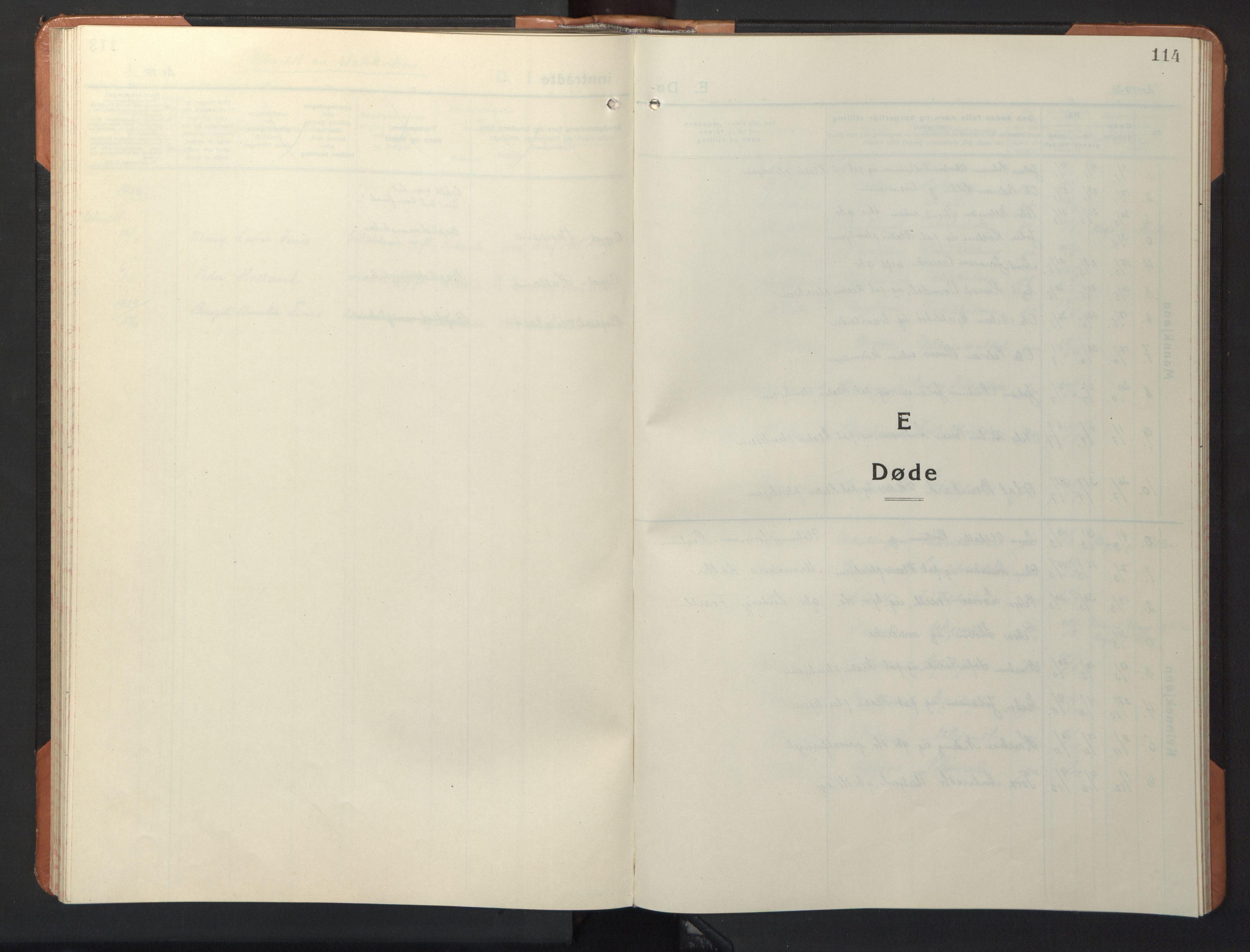 SAT, Ministerialprotokoller, klokkerbøker og fødselsregistre - Sør-Trøndelag, 618/L0454: Klokkerbok nr. 618C05, 1926-1946, s. 114