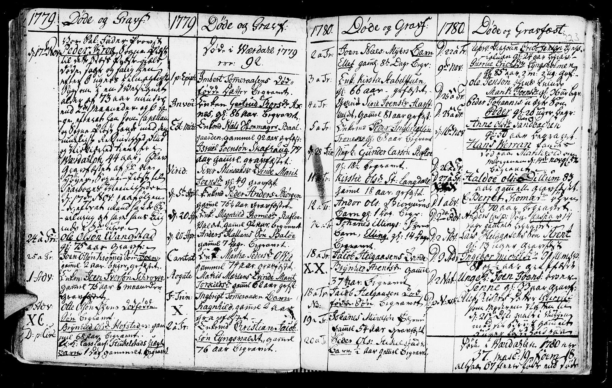 SAT, Ministerialprotokoller, klokkerbøker og fødselsregistre - Nord-Trøndelag, 723/L0231: Ministerialbok nr. 723A02, 1748-1780, s. 323