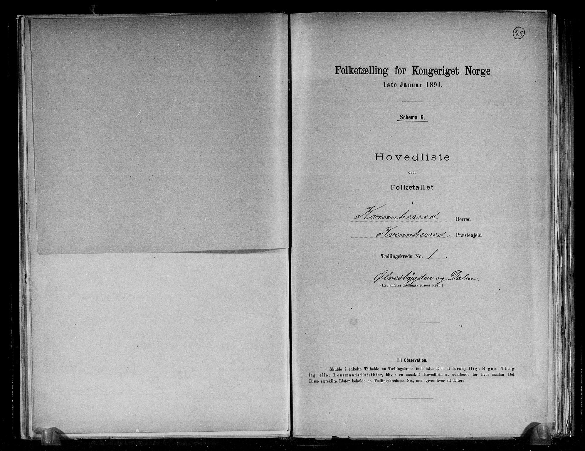 RA, Folketelling 1891 for 1224 Kvinnherad herred, 1891, s. 5