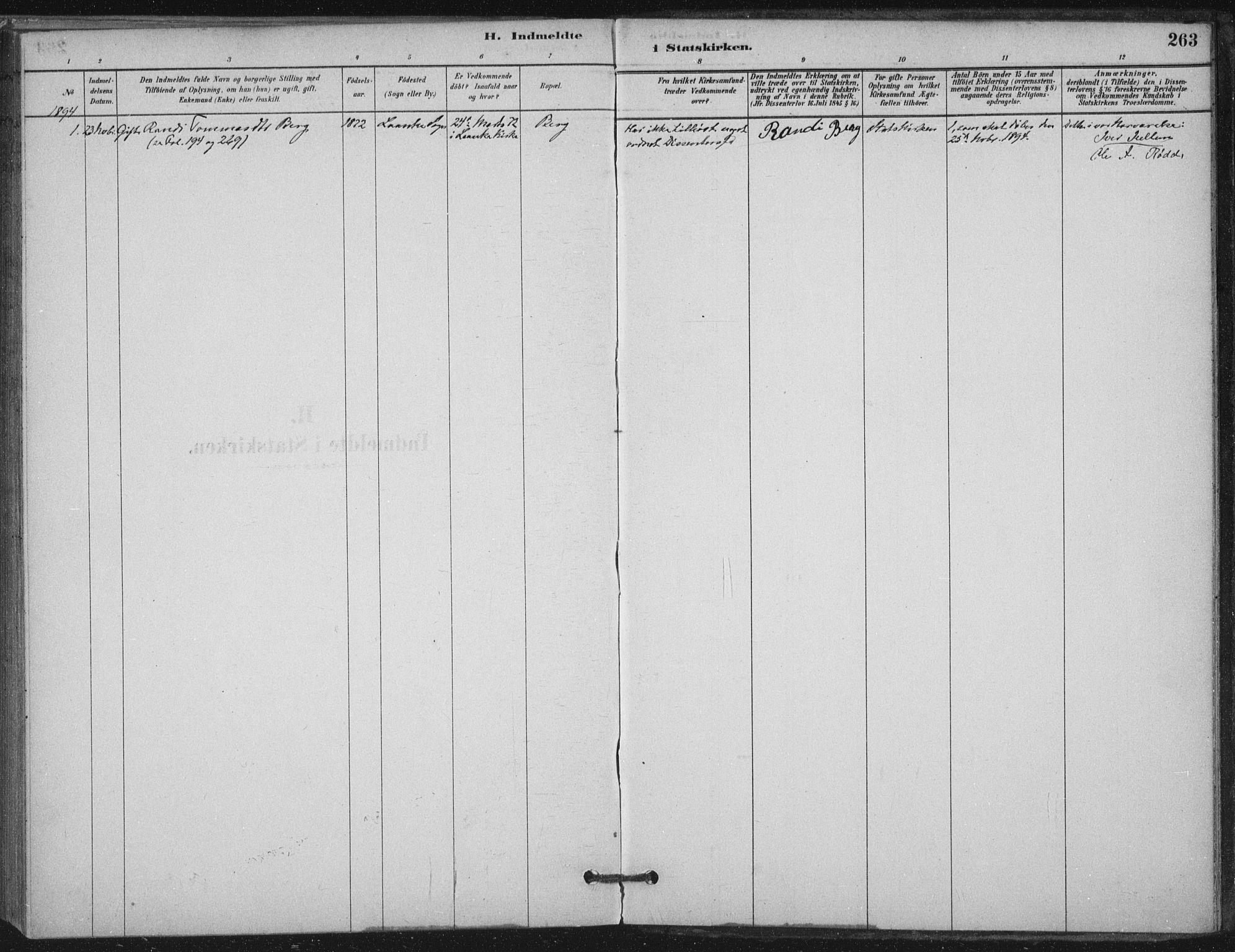 SAT, Ministerialprotokoller, klokkerbøker og fødselsregistre - Nord-Trøndelag, 710/L0095: Ministerialbok nr. 710A01, 1880-1914, s. 263