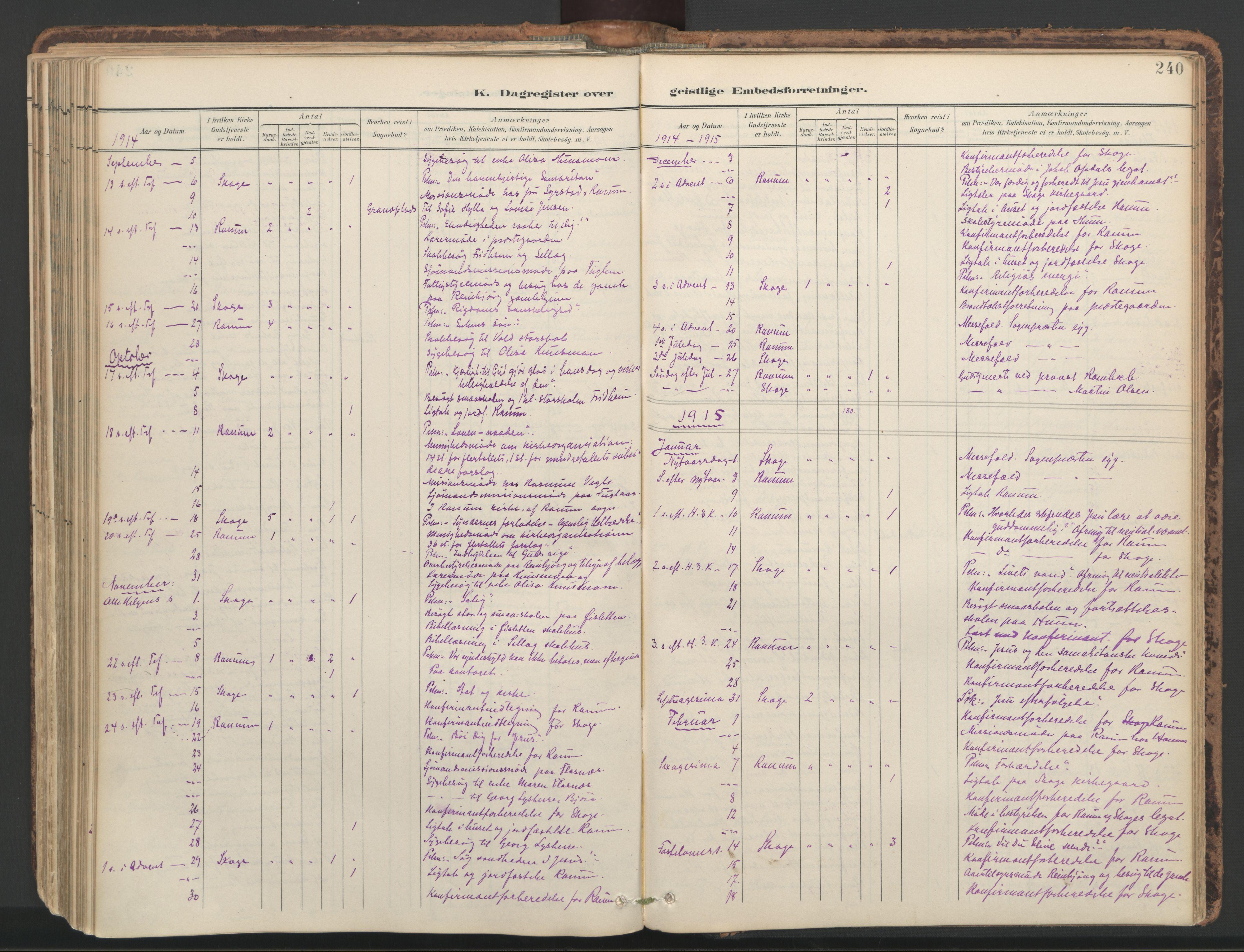SAT, Ministerialprotokoller, klokkerbøker og fødselsregistre - Nord-Trøndelag, 764/L0556: Ministerialbok nr. 764A11, 1897-1924, s. 240
