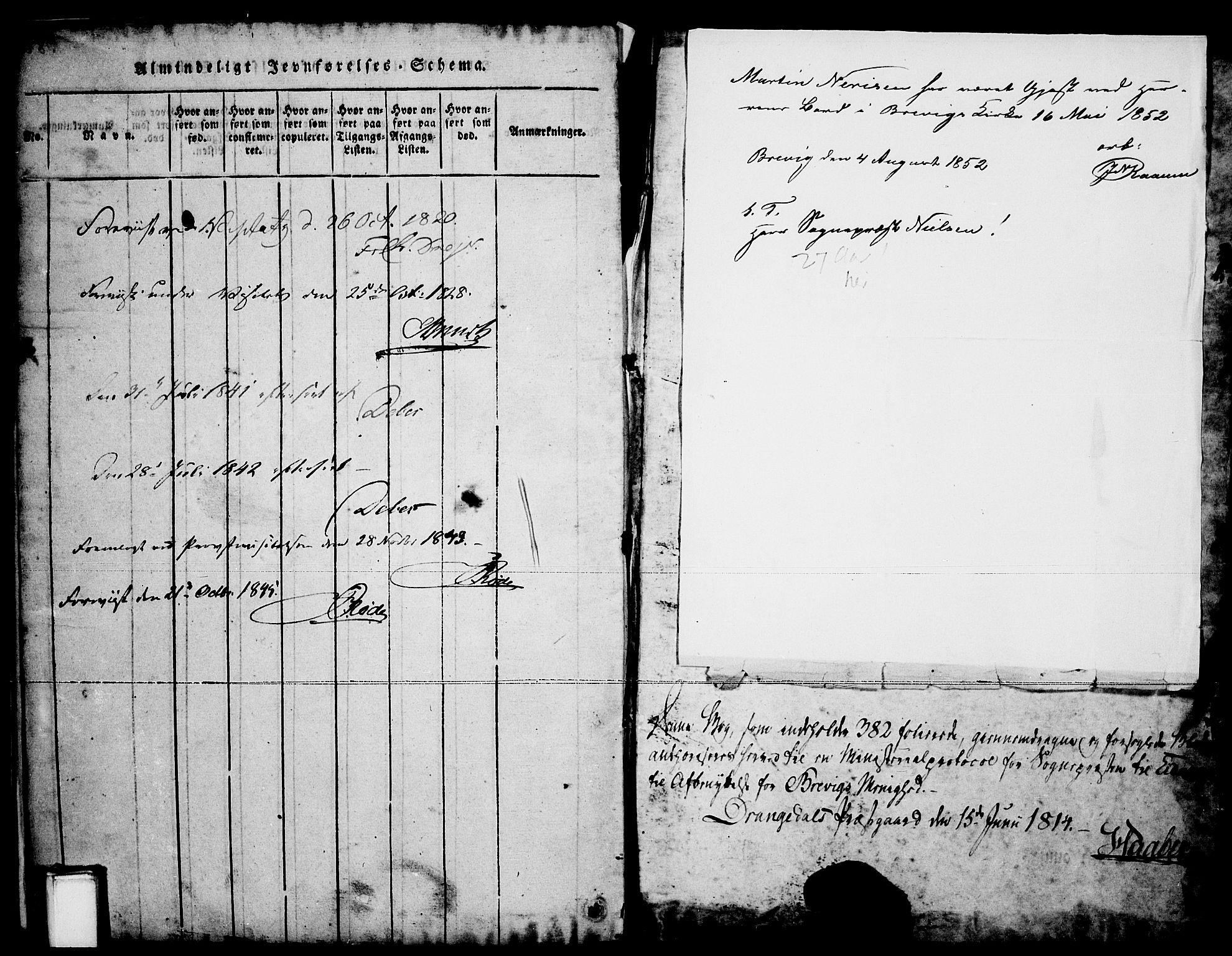 SAKO, Brevik kirkebøker, F/Fa/L0004: Ministerialbok nr. 4, 1814-1846