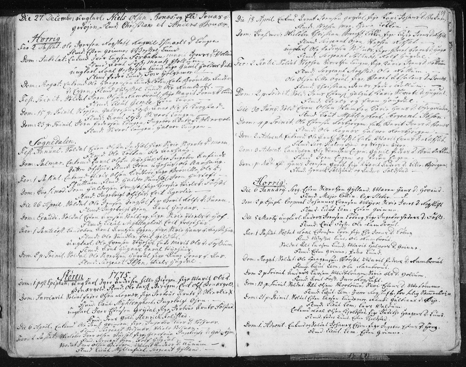 SAT, Ministerialprotokoller, klokkerbøker og fødselsregistre - Sør-Trøndelag, 687/L0991: Ministerialbok nr. 687A02, 1747-1790, s. 259