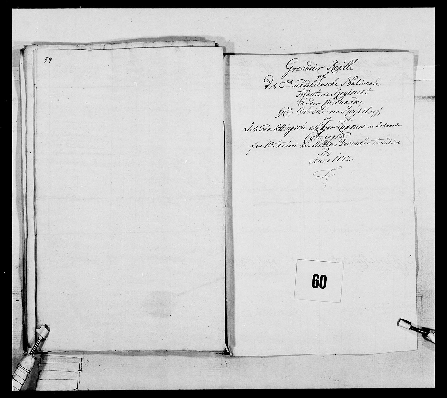 RA, Generalitets- og kommissariatskollegiet, Det kongelige norske kommissariatskollegium, E/Eh/L0076: 2. Trondheimske nasjonale infanteriregiment, 1766-1773, s. 208