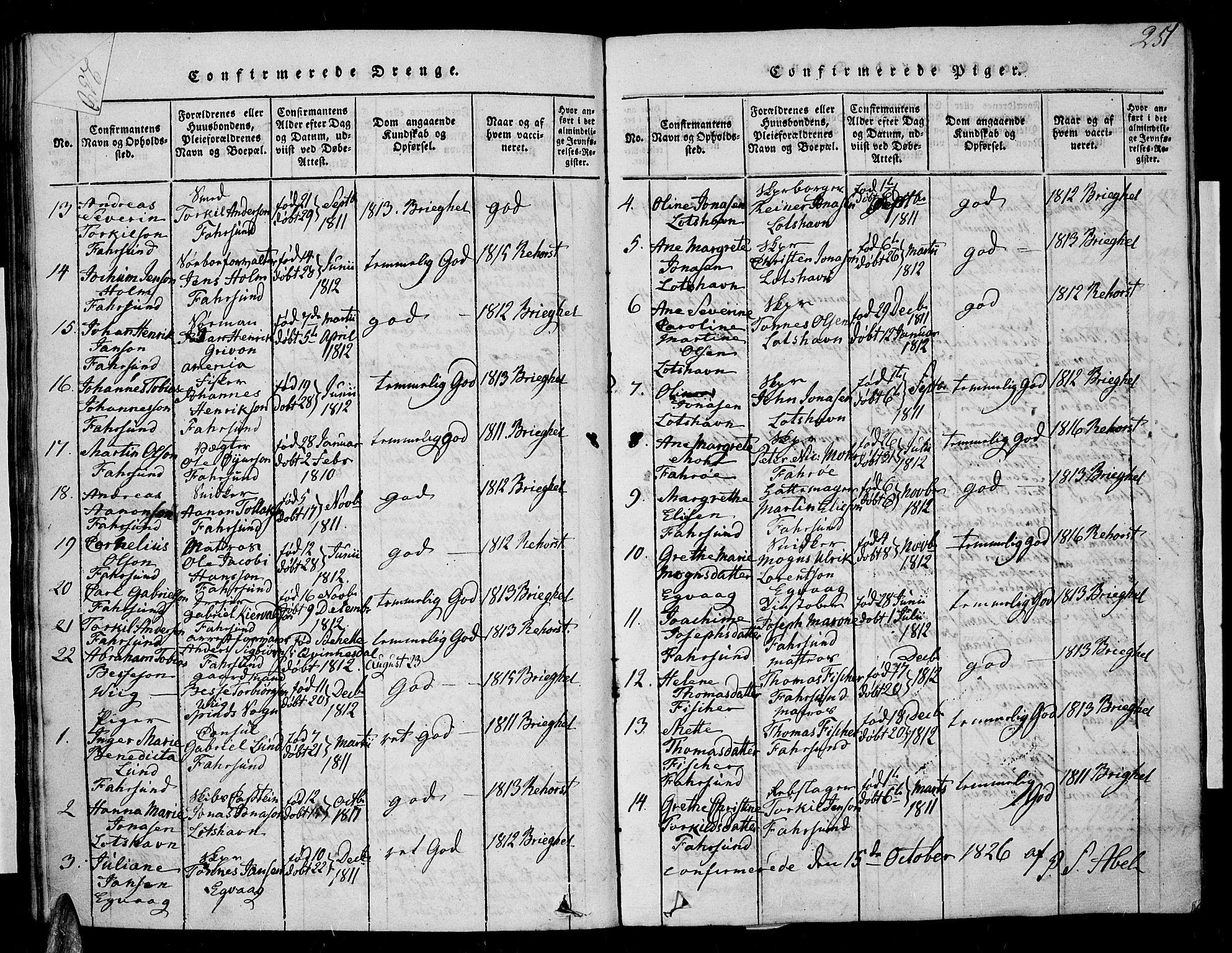 SAK, Farsund sokneprestkontor, F/Fa/L0002: Ministerialbok nr. A 2, 1815-1836, s. 251