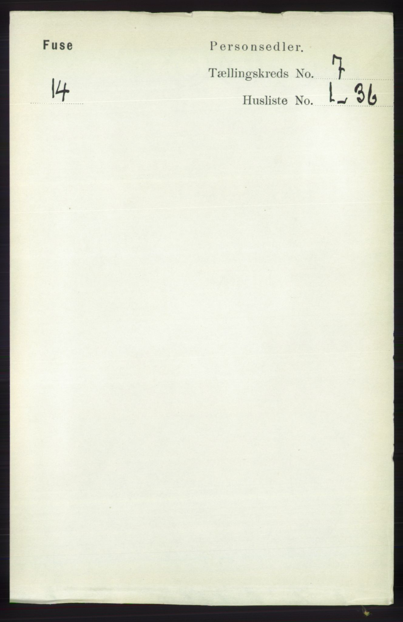 RA, Folketelling 1891 for 1241 Fusa herred, 1891, s. 1301