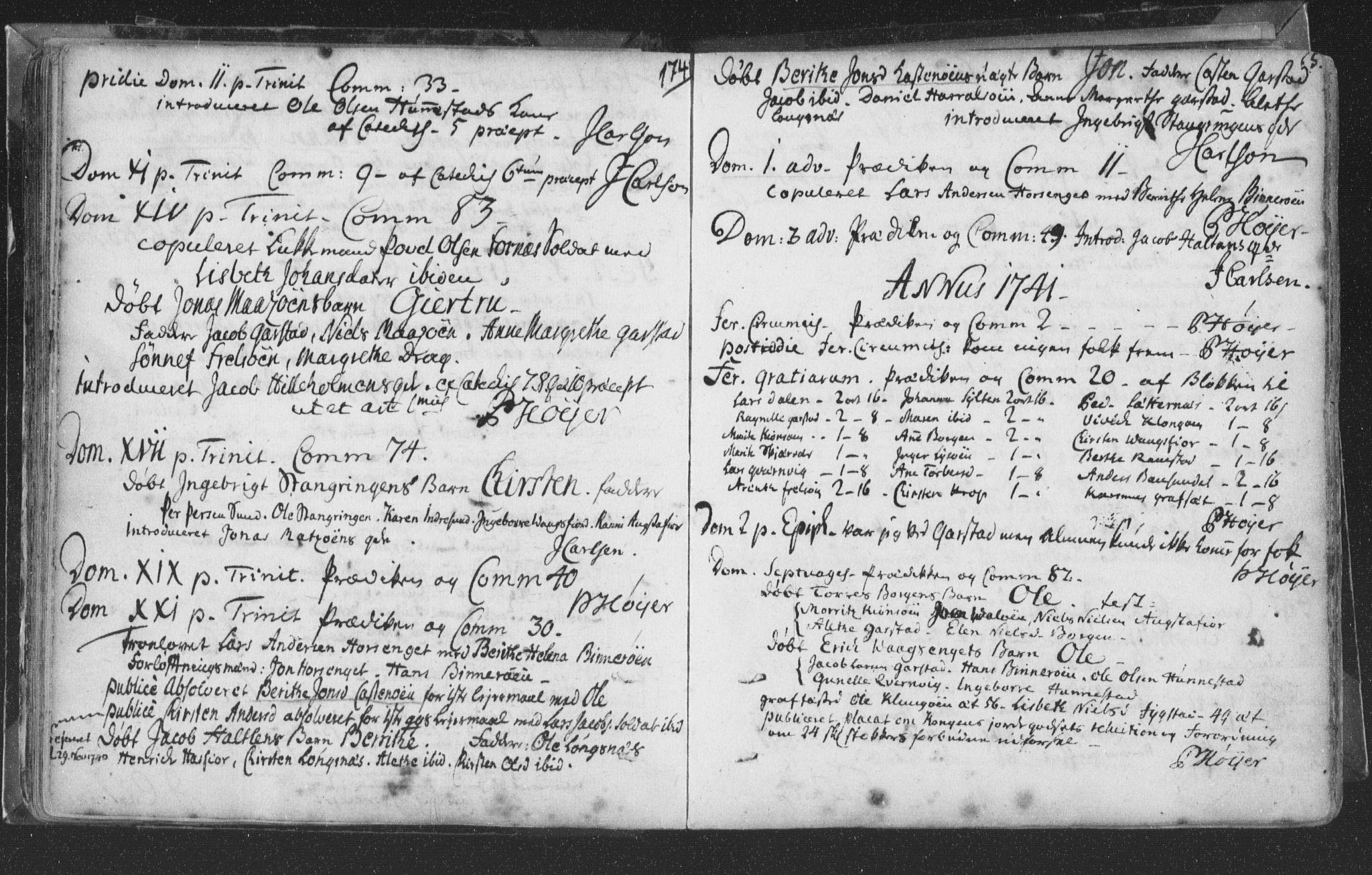 SAT, Ministerialprotokoller, klokkerbøker og fødselsregistre - Nord-Trøndelag, 786/L0685: Ministerialbok nr. 786A01, 1710-1798, s. 65