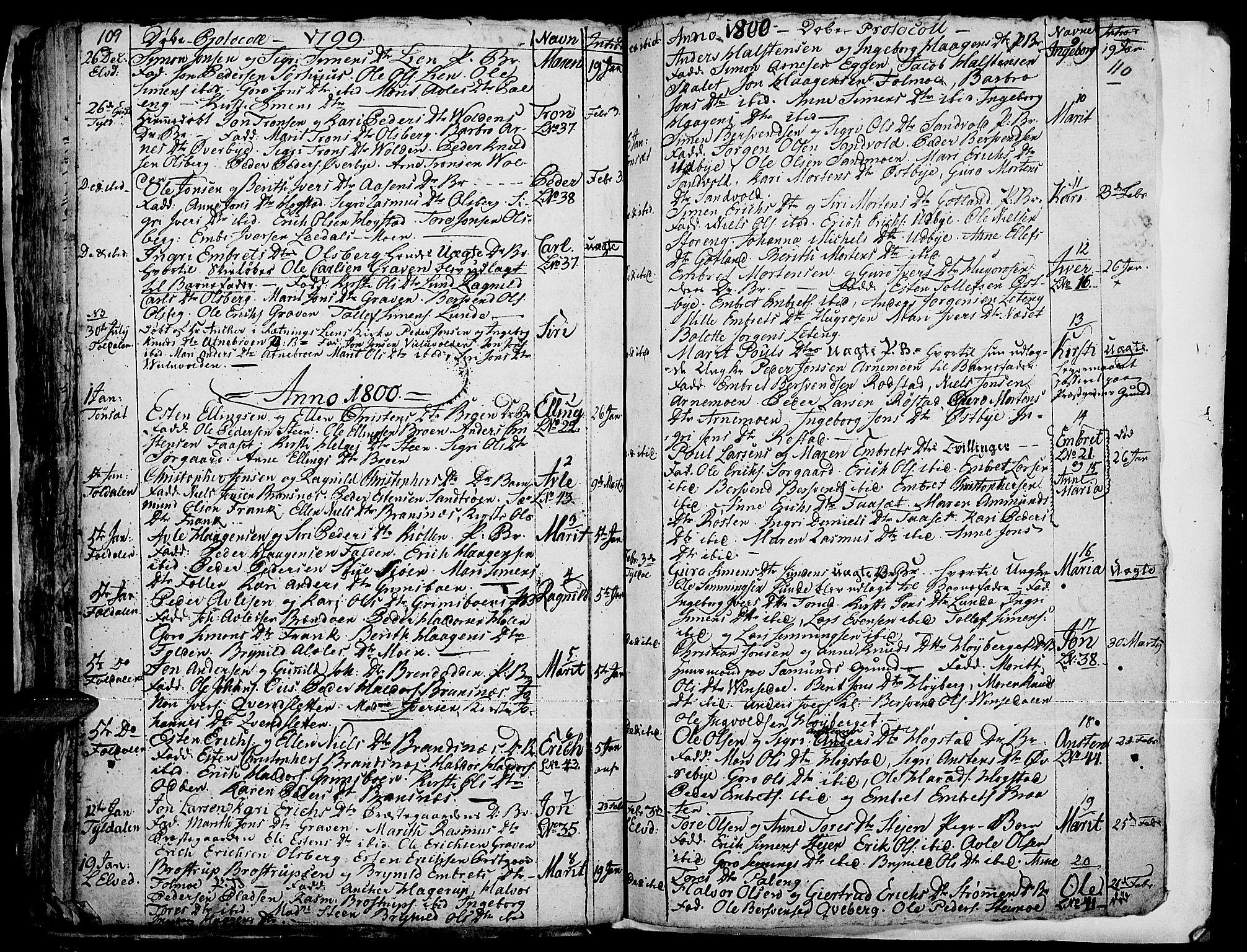 SAH, Tynset prestekontor, Ministerialbok nr. 14, 1790-1800, s. 109-110