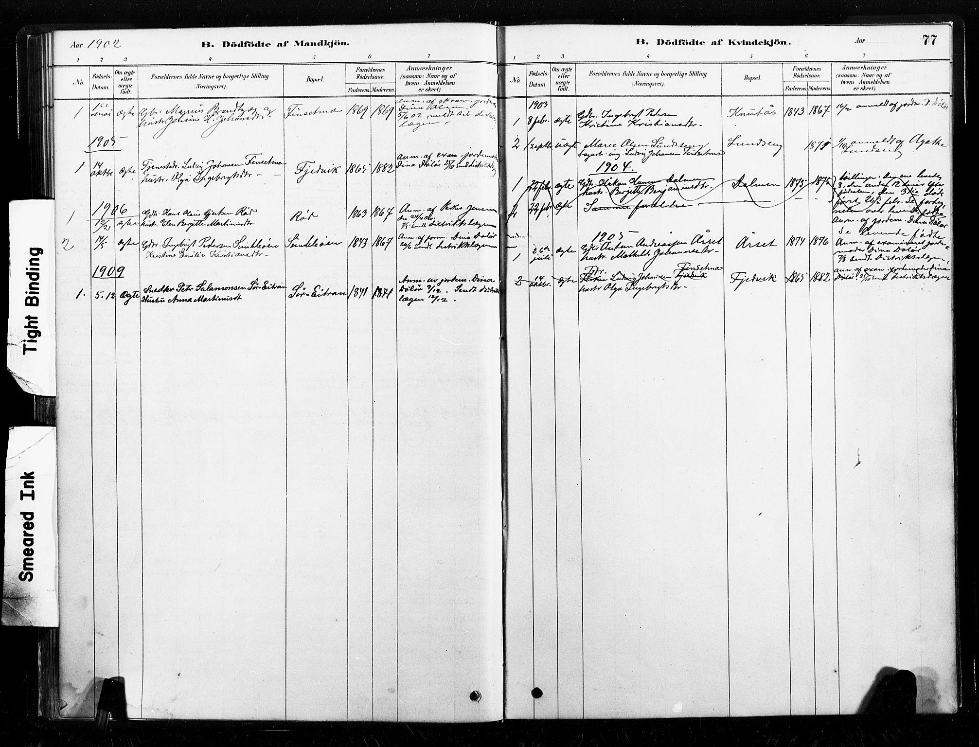 SAT, Ministerialprotokoller, klokkerbøker og fødselsregistre - Nord-Trøndelag, 789/L0705: Ministerialbok nr. 789A01, 1878-1910, s. 77