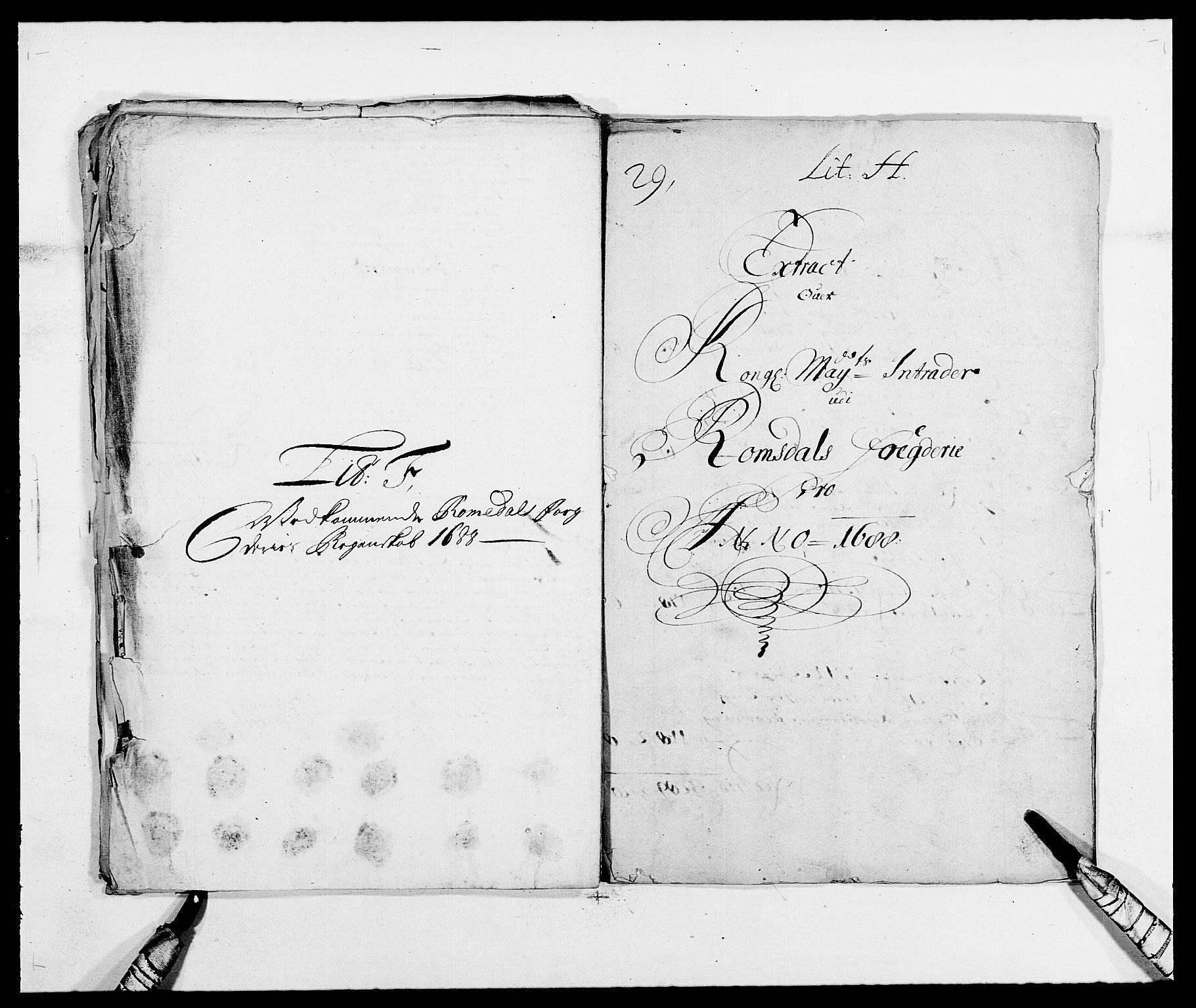 RA, Rentekammeret inntil 1814, Reviderte regnskaper, Fogderegnskap, R55/L3648: Fogderegnskap Romsdal, 1687-1689, s. 158