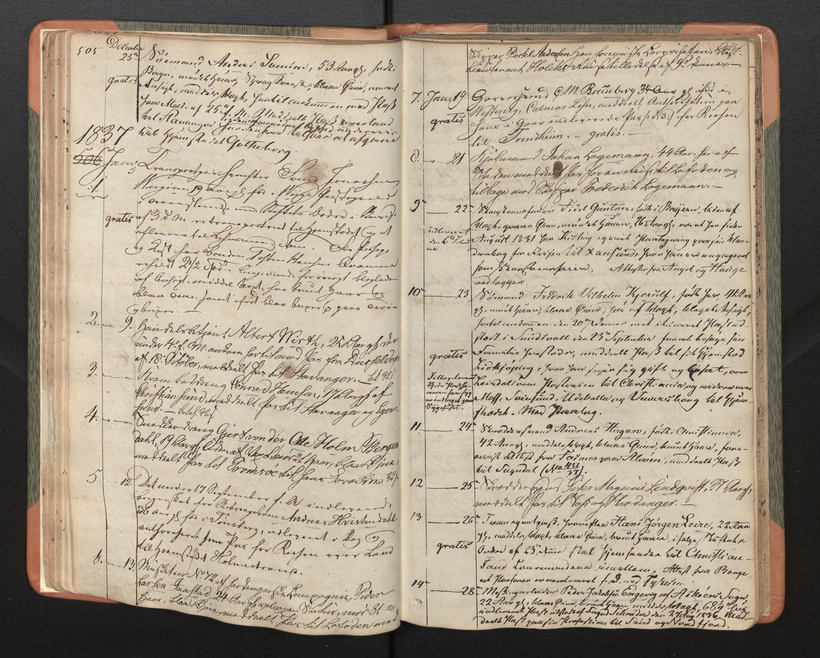 SAB, Bergen Politidistrikt, L.a/L.ab/L0003: Passprotokoll, 1836-1842, s. 31