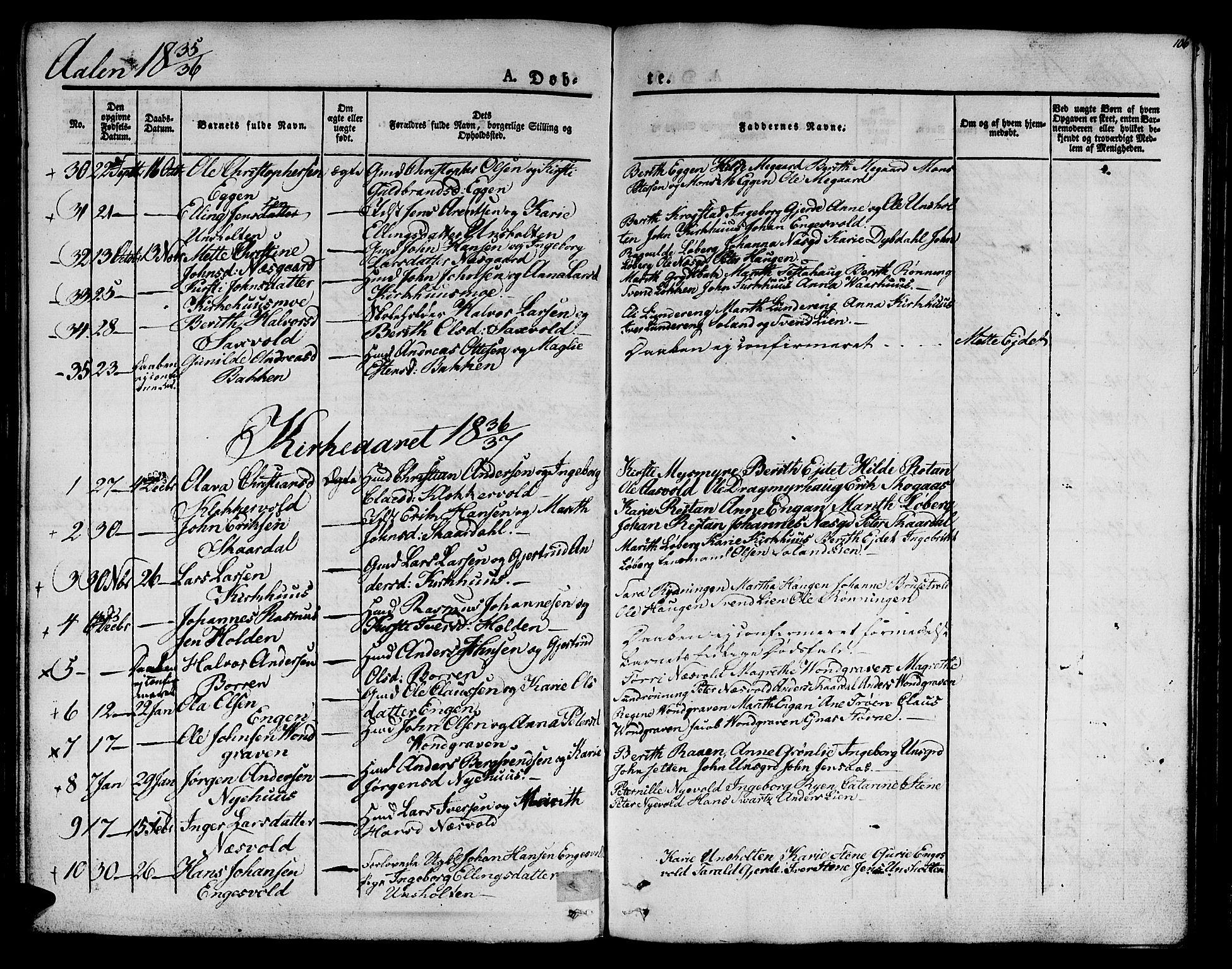 SAT, Ministerialprotokoller, klokkerbøker og fødselsregistre - Sør-Trøndelag, 685/L0959: Ministerialbok nr. 685A04 /3, 1829-1845, s. 106