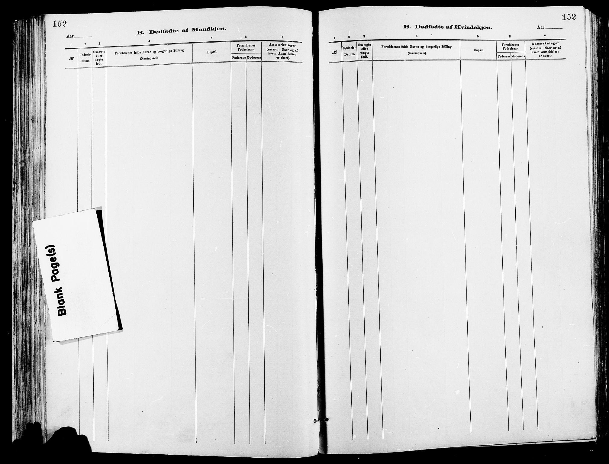 SAH, Sør-Fron prestekontor, H/Ha/Haa/L0003: Ministerialbok nr. 3, 1881-1897, s. 152