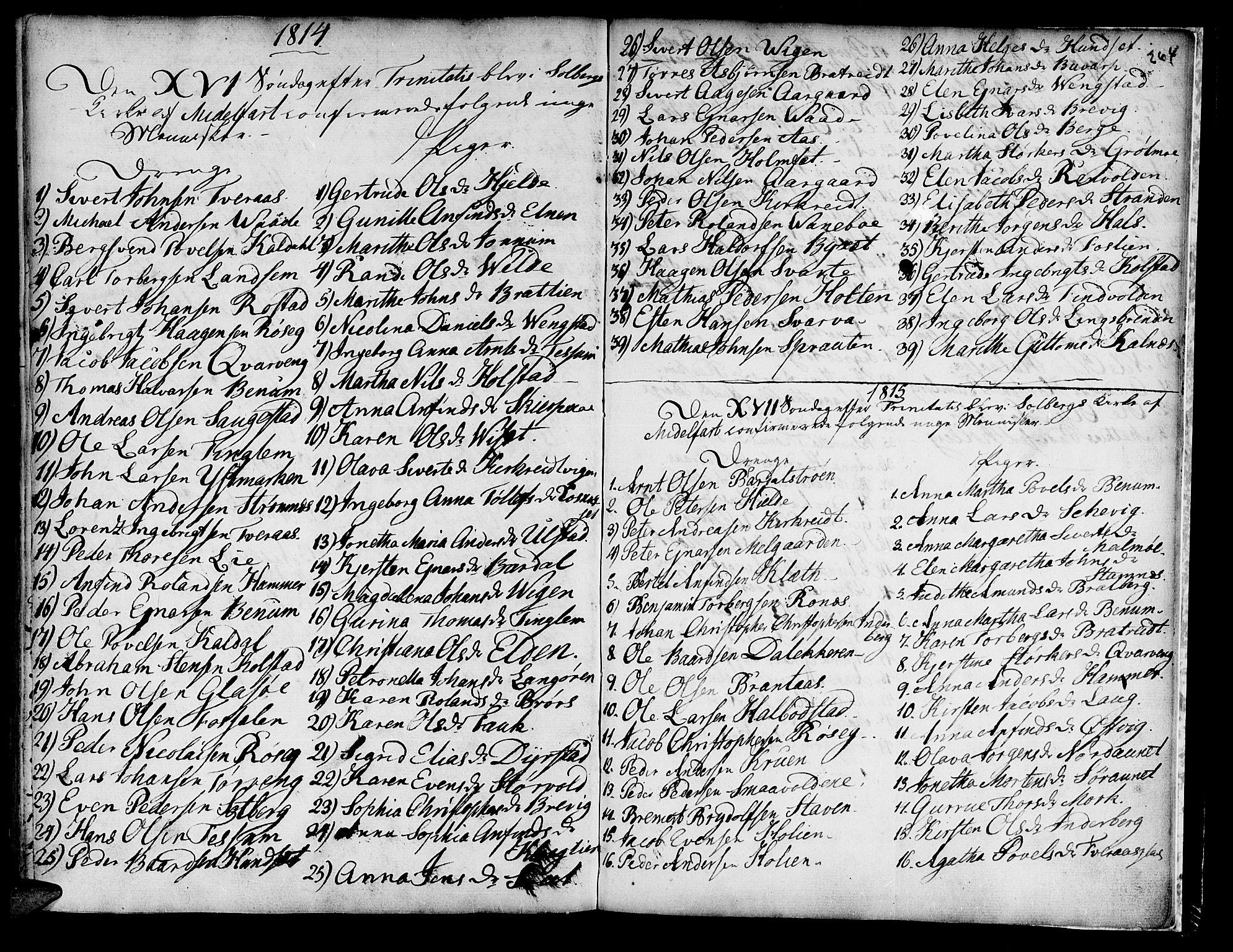 SAT, Ministerialprotokoller, klokkerbøker og fødselsregistre - Nord-Trøndelag, 741/L0385: Ministerialbok nr. 741A01, 1722-1815, s. 264