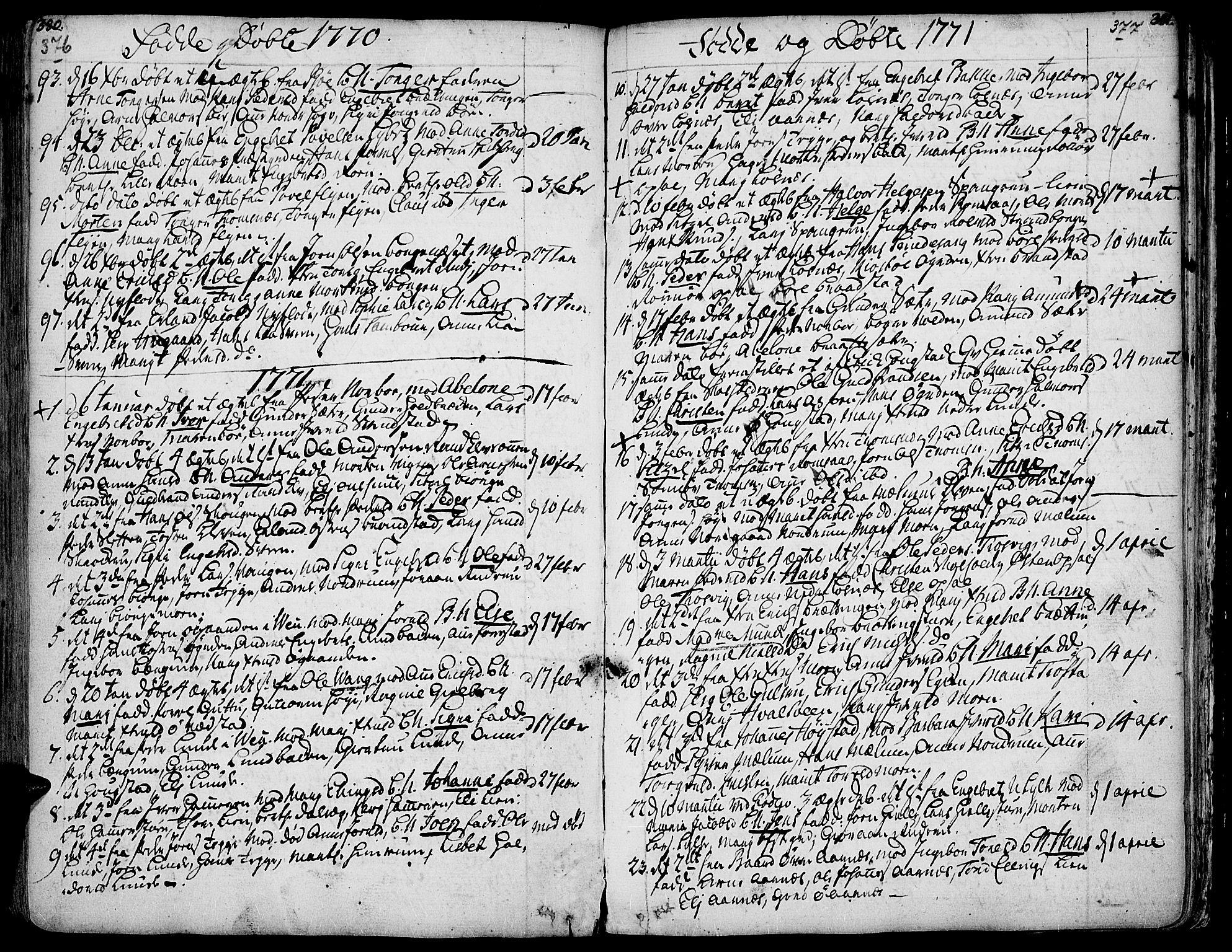 SAH, Ringebu prestekontor, Ministerialbok nr. 2, 1734-1780, s. 376-377